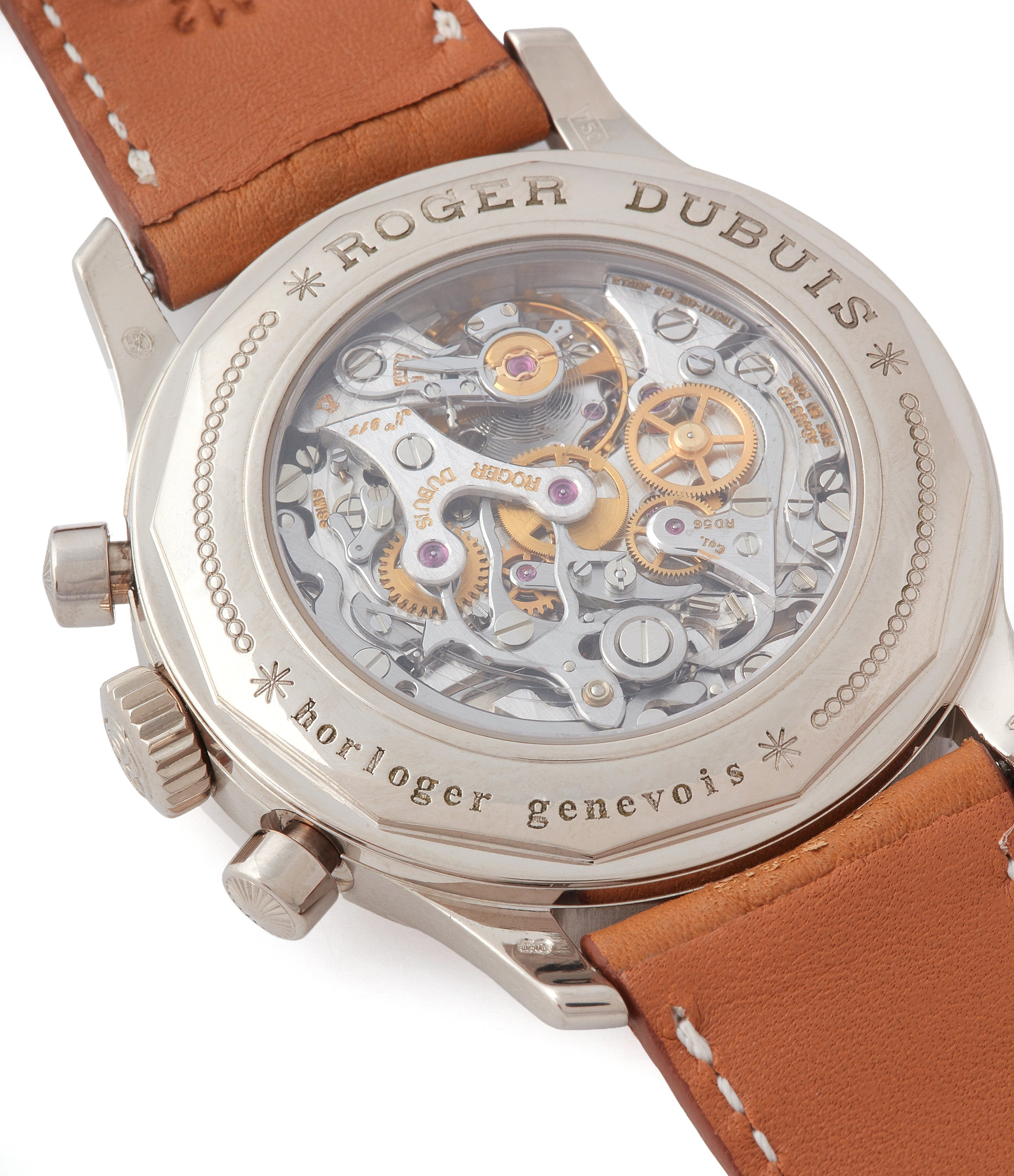 Besancon Observatory chronometer Roger Dubuis Hommage Chronograph white gold dress independent watchmaker