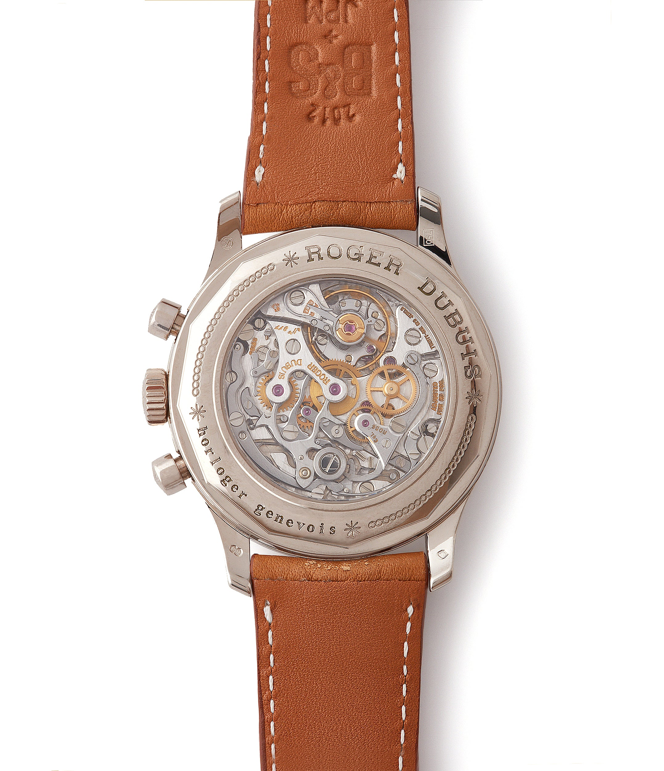 RD56 movement Roger Dubuis Hommage Chronograph white gold dress watch independent watchmaker