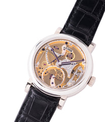 buy preowned Roger W. Smith Series 2 Open Dial white gold rare hand-made dress watch for sale online at A Collected Man London UK specialist of rare independent watches