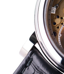 white gold Series 2 Open Dial Roger W. Smith rare hand-made dress watch for sale online at A Collected Man London UK specialist of rare independent watches