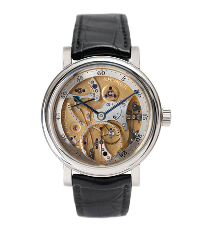 buy Roger W. Smith Series 2 Open dial rare dress platinum watch for sale online at A Collected Man London UK approved seller of independent watchmakers
