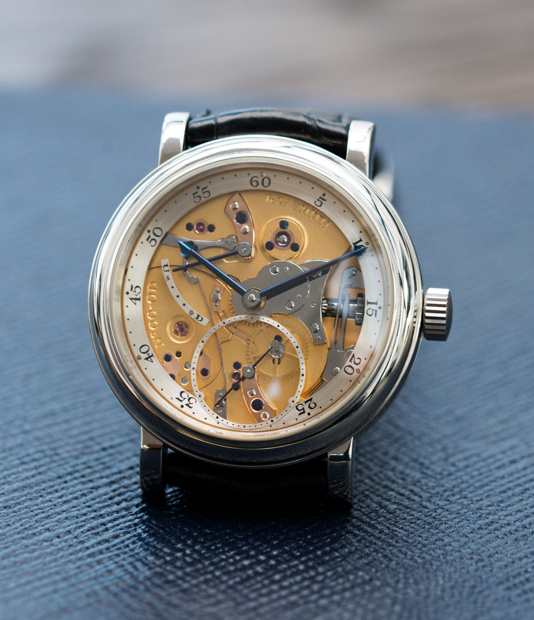 selling Roger W. Smith Series 2 Open dial rare dress platinum watch for sale online at A Collected Man London UK approved seller of independent watchmakers