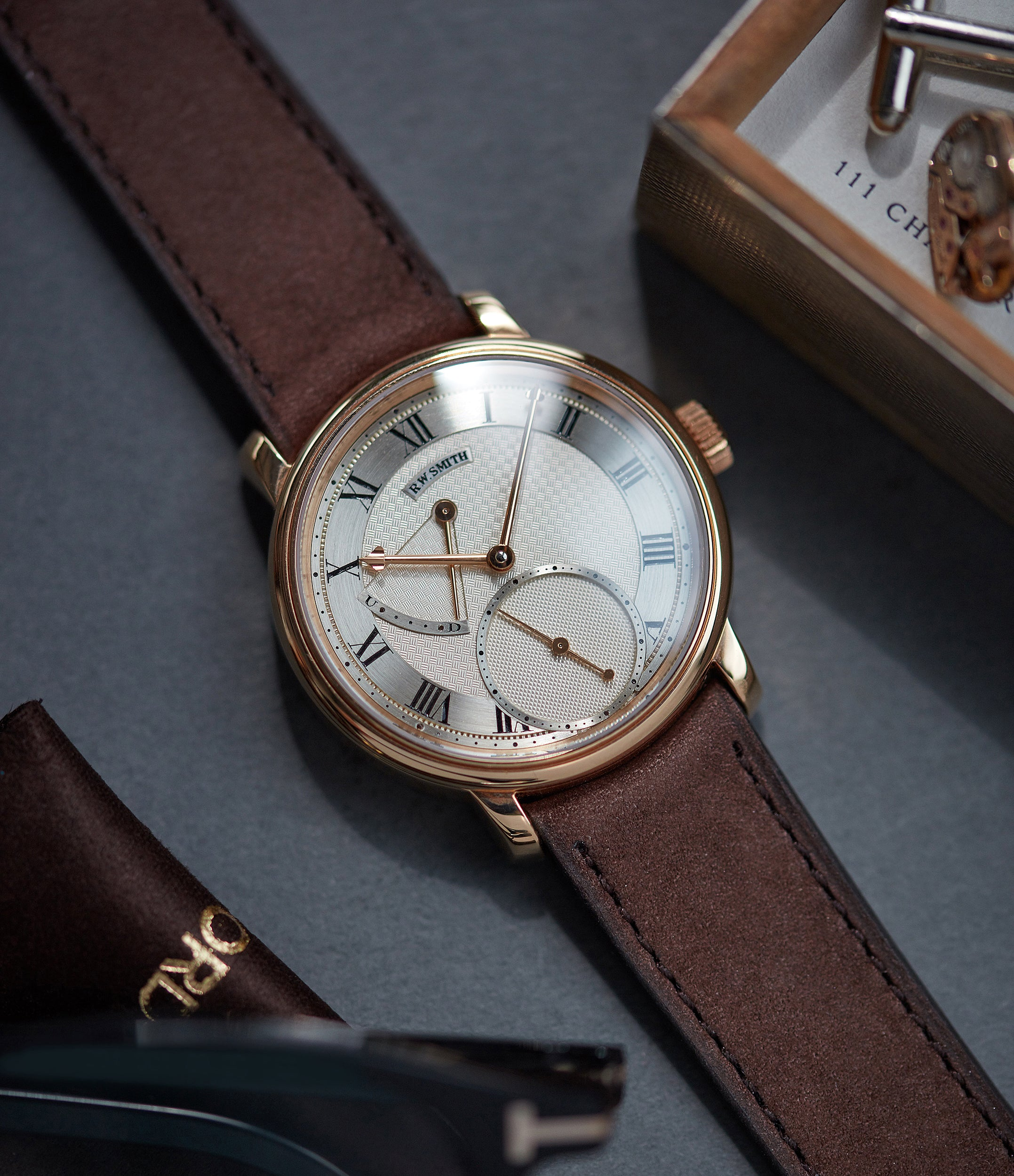 Roger Smith Series 2 rose gold time-only dress watch British for sale online A Collected Man London