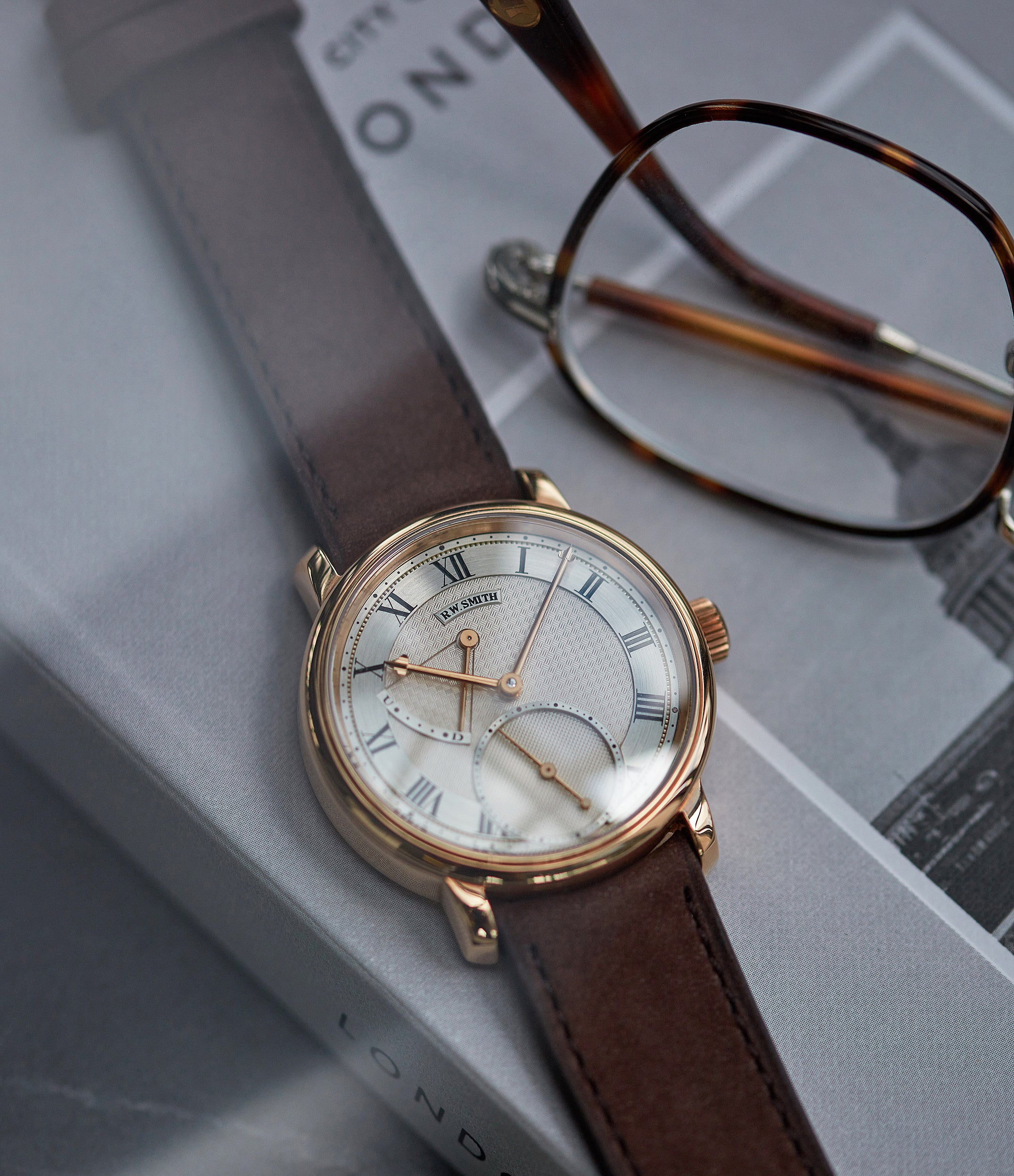 rare Roger Smith Series 2 rose gold time-only dress watch British for sale online A Collected Man London