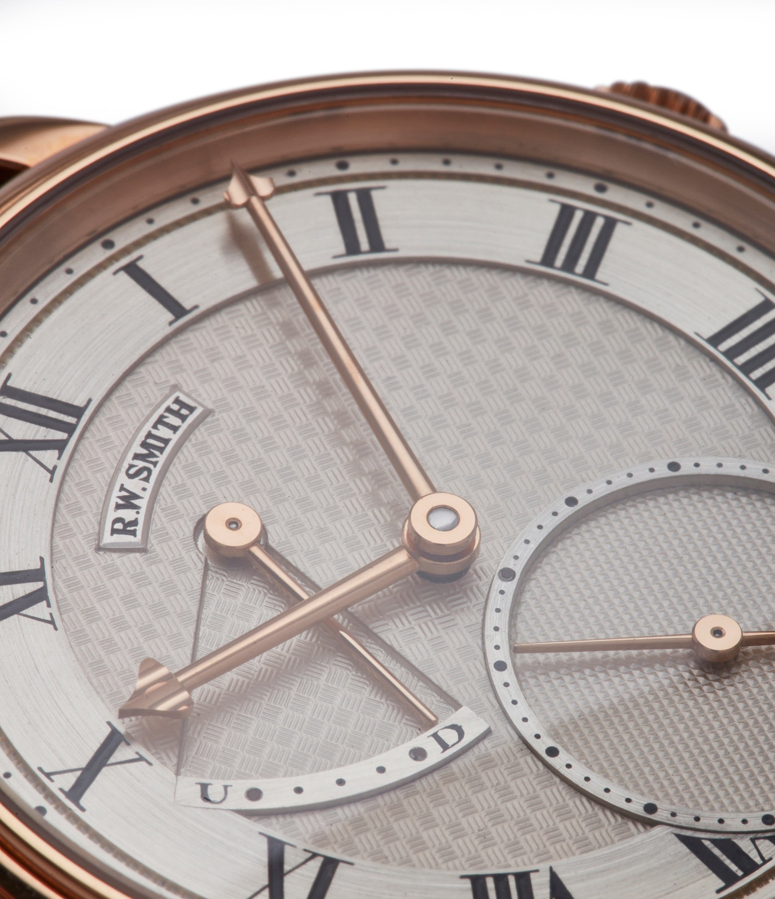 hand-made silver dial Roger Smith Series 2 rose gold time-only dress watch British for sale online A Collected Man London
