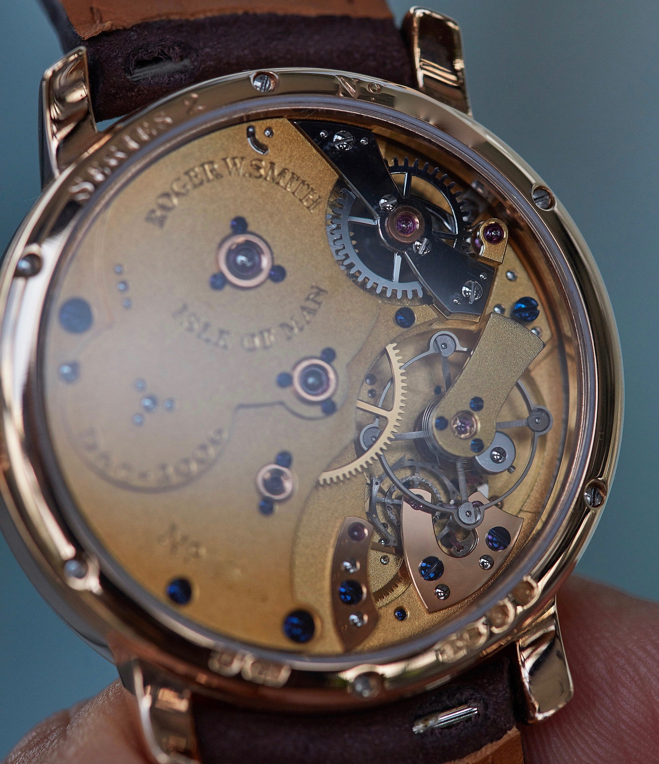 hand-made British watch Roger Smith Series 2 rose gold time-only dress watch for sale online A Collected Man London