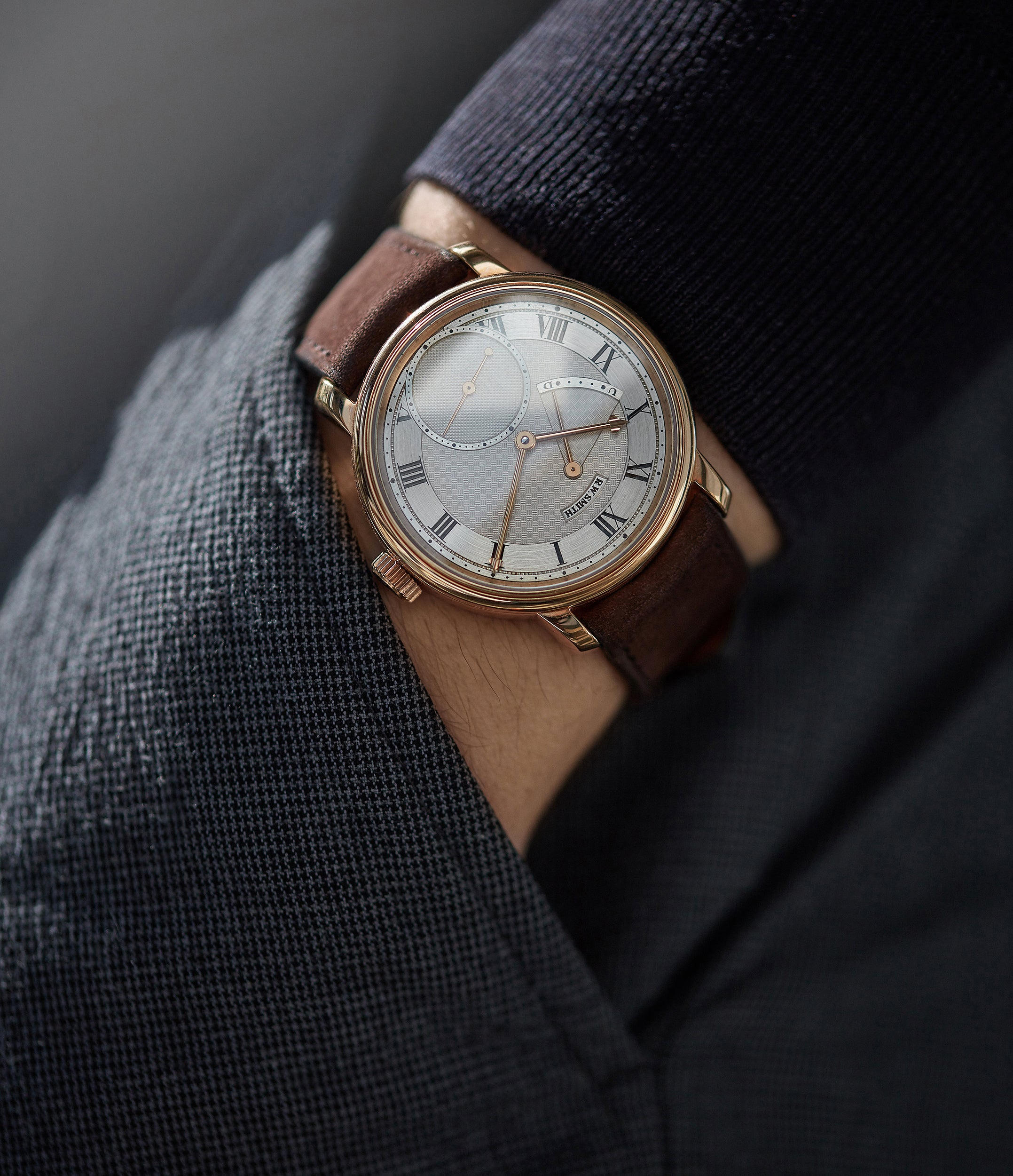 men's luxury wristwatch Roger Smith Series 2 rose gold time-only dress watch British for sale online A Collected Man London