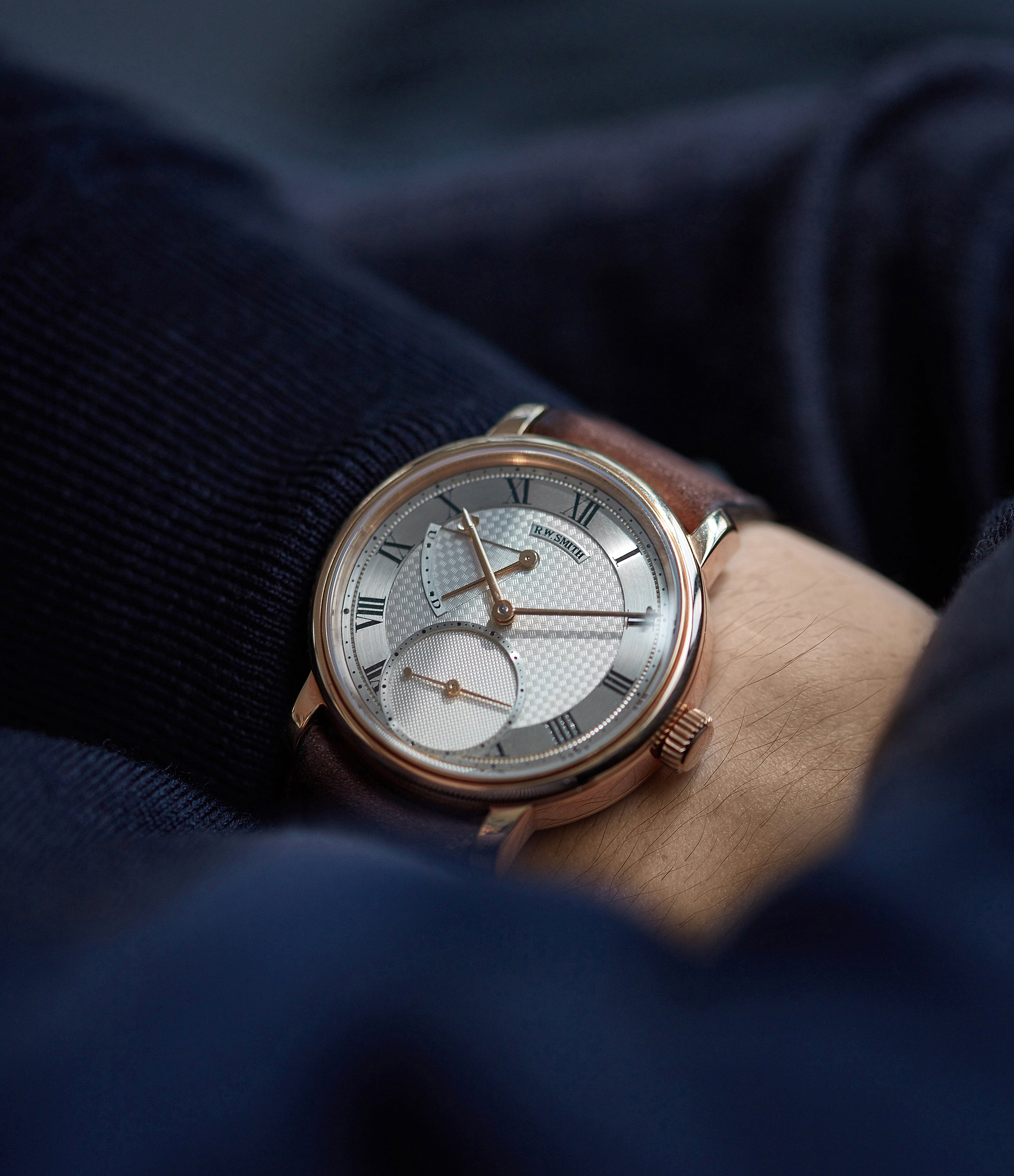 selling Roger Smith Series 2 rose gold time-only dress watch British for sale online A Collected Man London