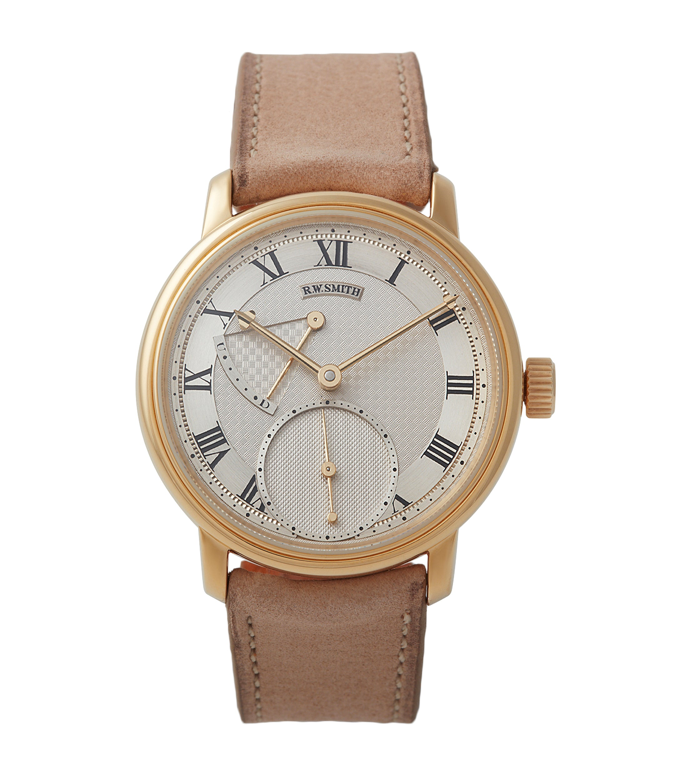 buy Roger W. Smith Series 2 yellow gold early pre-owned independent watchmaker for sale online A Collected Man exclusively approved re-seller Roger Smith
