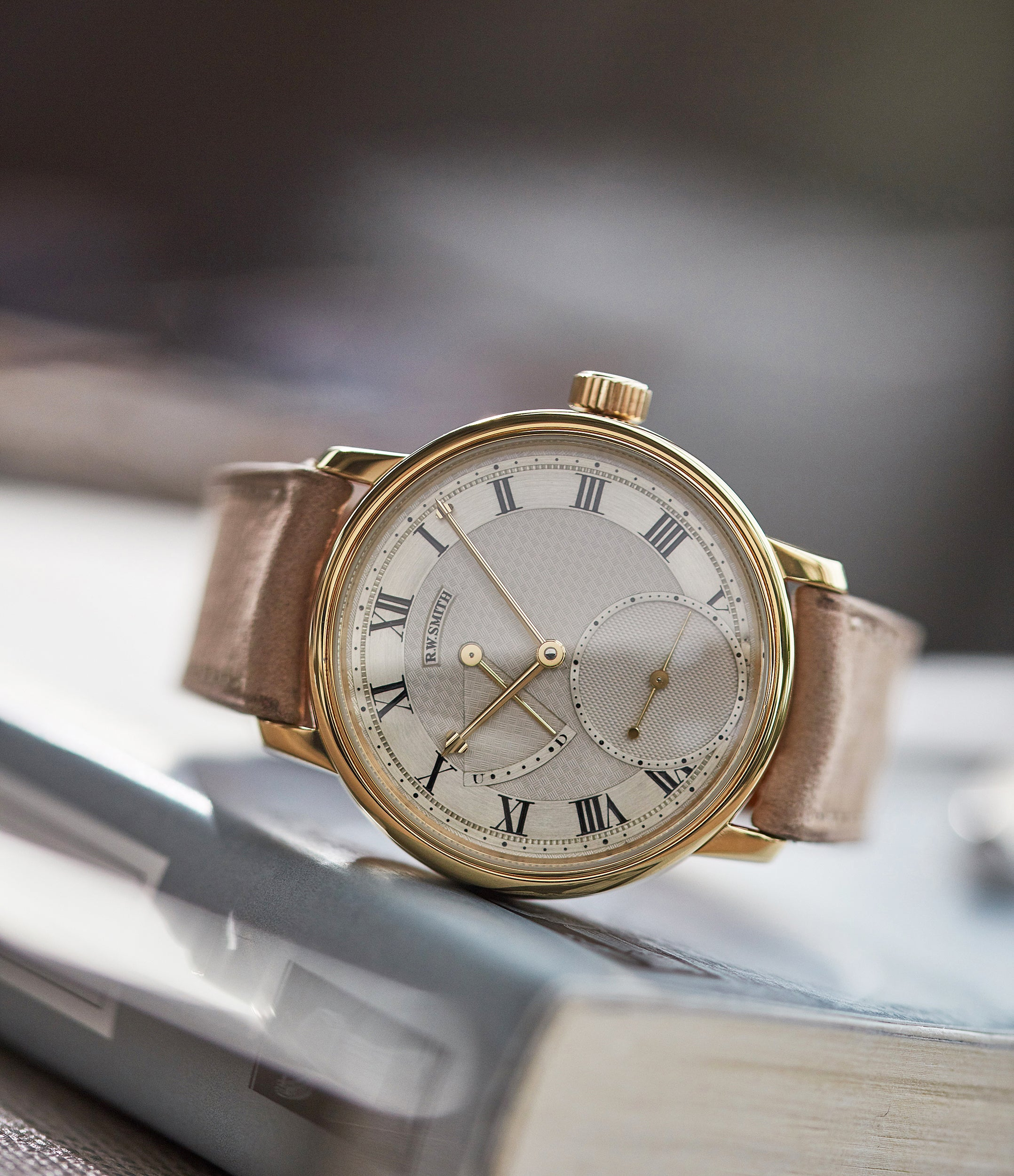 Roger W. Smith Series 2 yellow gold early pre-owned independent watchmaker for sale online A Collected Man exclusively approved re-seller Roger Smith