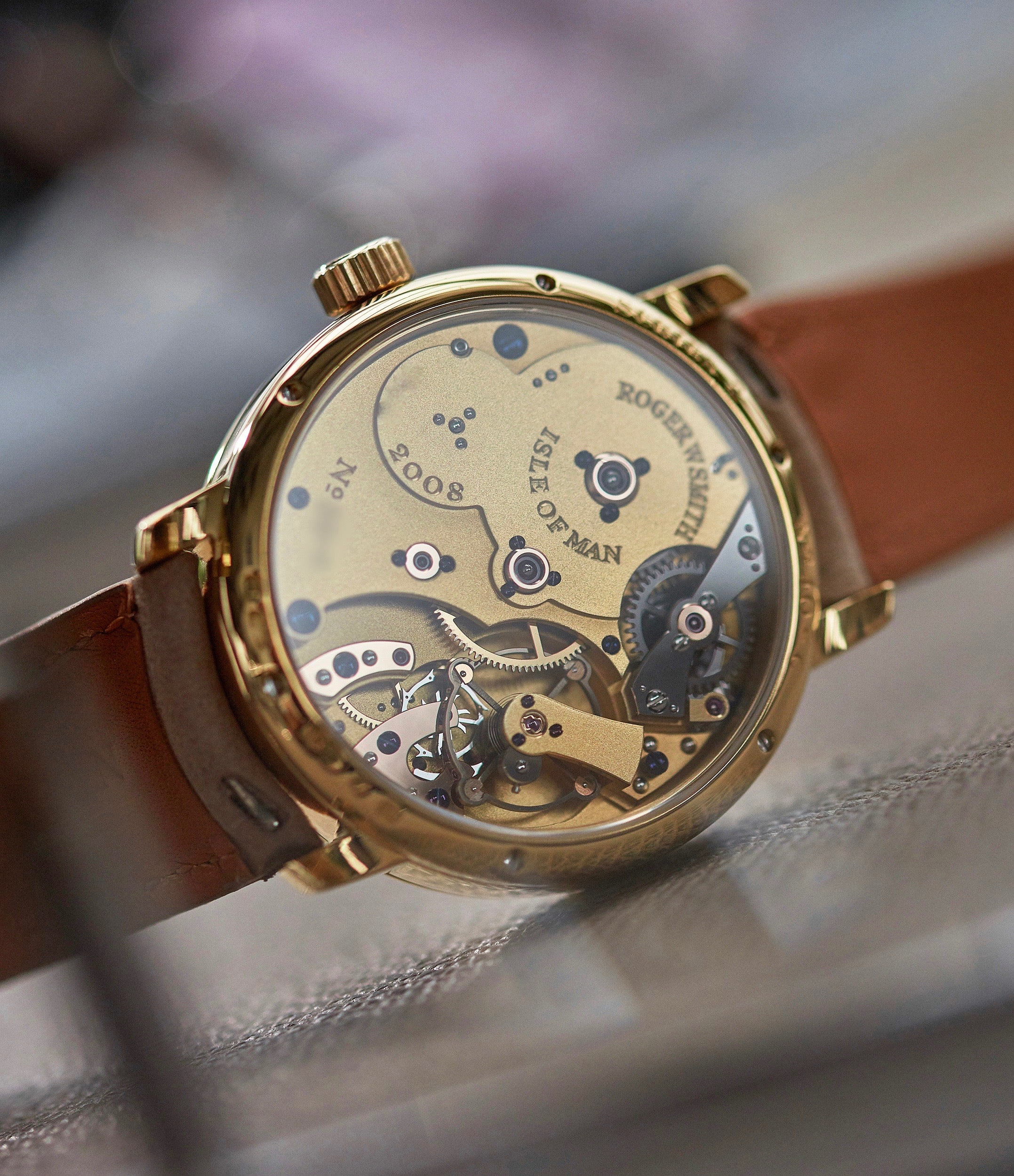 hand-made movement Roger W. Smith Series 2 yellow gold early pre-owned independent watchmaker for sale online A Collected Man exclusively approved re-seller Roger Smith