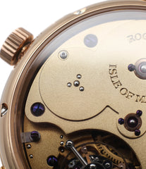 hand-finished movement buy Roger Smith rare watch Grande Panorama date flying tourbillon No. 1 red gold dress watch at A Collected Man approved reseller of independent watchmakers