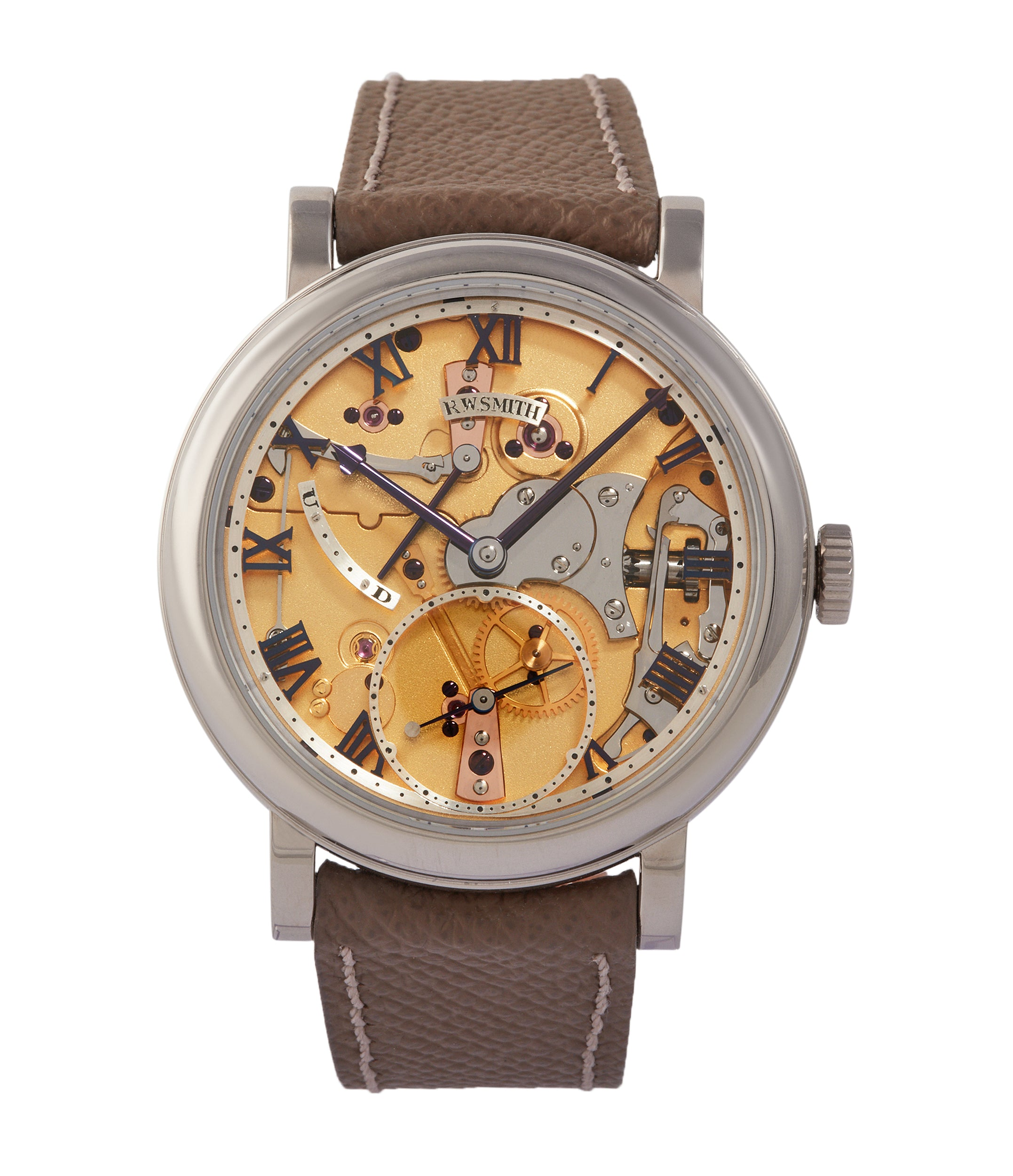buy Roger W. Smith Series 5 Open-Dial British rare hand-made wristwatch independent watchmaker for sale online A Collected Man London