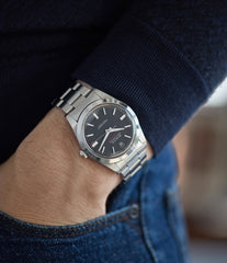 men's cool vintage wristwatch Rolex Milgauss Ref. 1019 steel watch at A Collected Man London UK specialist rare vintage Rolex watches