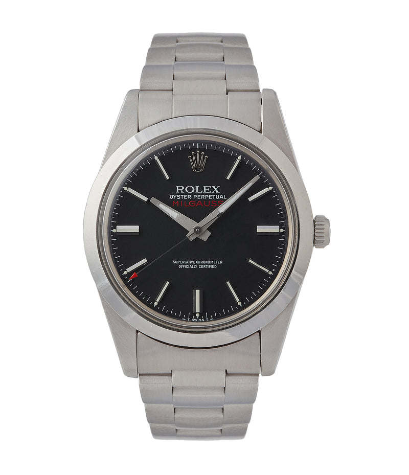 buy vintage Rolex Milgauss 1019 steel antimagnetic tool watch for sale online at A Collected Man London UK specialist rare vintage Rolex watches