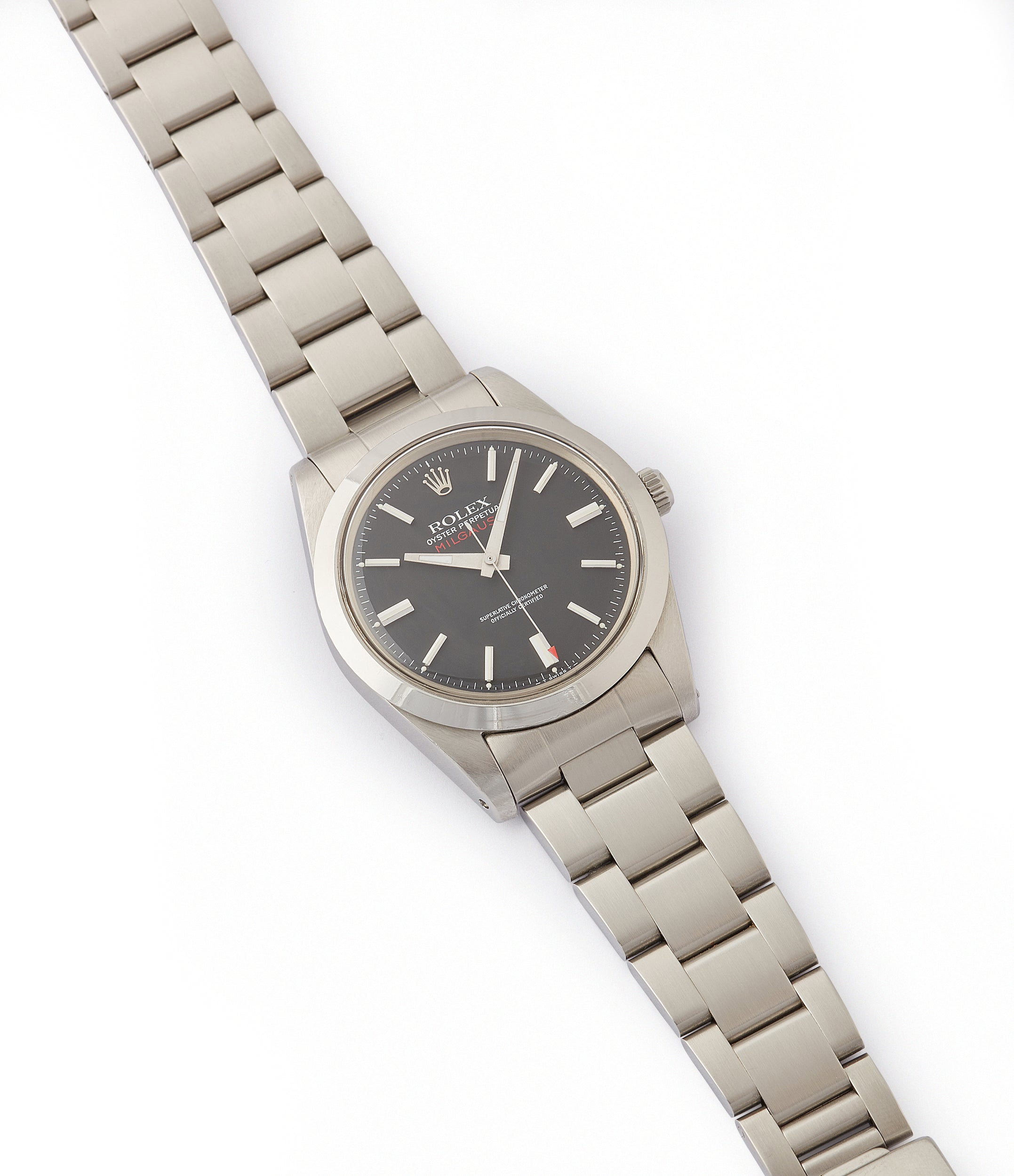 buying vintage Rolex Milgauss 1019 steel antimagnetic tool watch for sale online at A Collected Man London UK specialist rare vintage Rolex watches