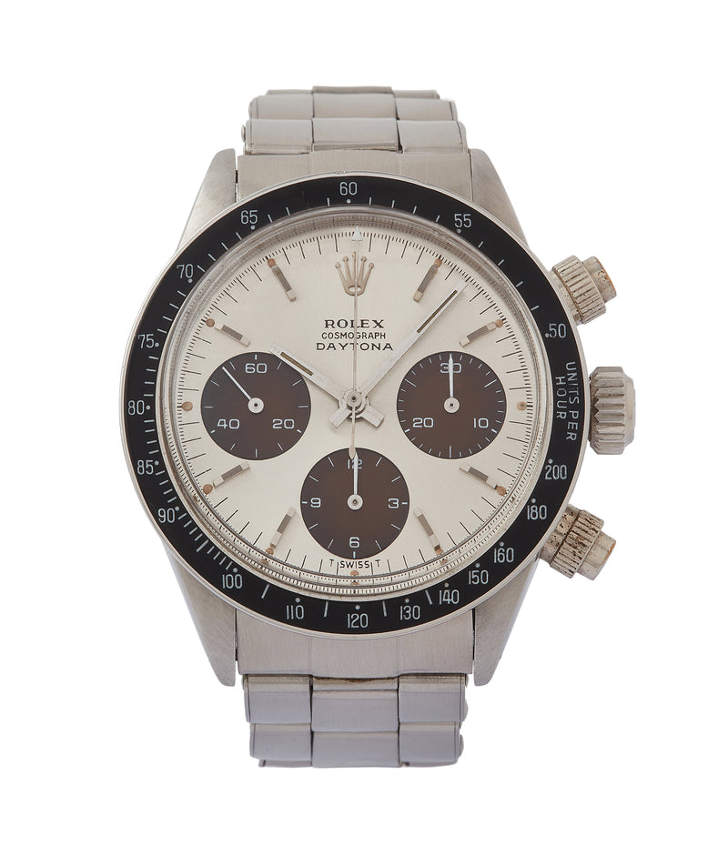 buy vintage Rolex Daytona 6240 tropical dial steel watch for sale online at A Collected Man London UK specialist of rare watches