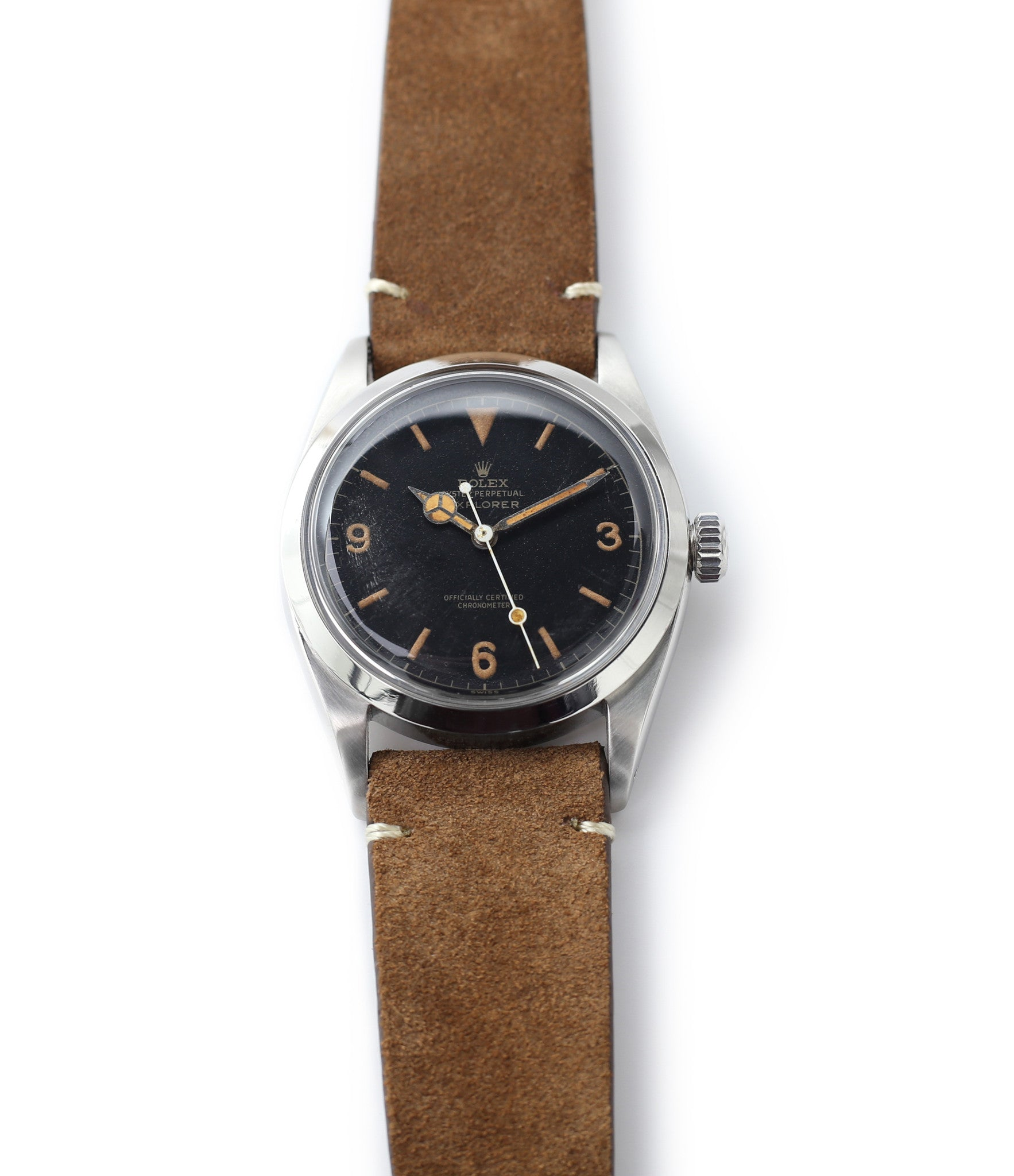 buy vintage Rolex Explorer 6610 steel watch at A Collected Man time-only