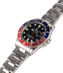 selling Rolex GMT-Master 16750 steel sport traveller watch for sale online at A Collected Man London vintage watch specialist