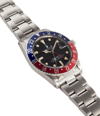 for sale Rolex GMT-Master 16750 steel sport traveller watch for sale online at A Collected Man London vintage watch specialist