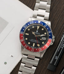 selling vintage Rolex GMT-Master 16750 steel sport traveller watch for sale online at A Collected Man London vintage watch specialist