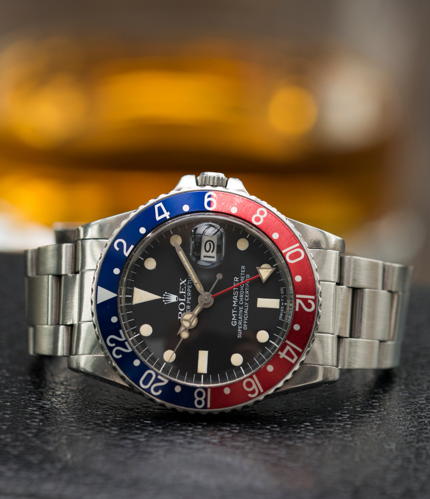 vintage watch Rolex 16750 GMT-Master Pepsi bezel steel sport traveller watch for sale online at A Collected Man London vintage watch specialist