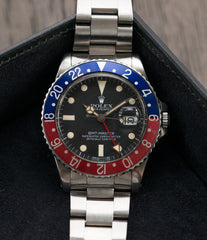 for sale vintage Rolex GMT-Master 16750 steel sport traveller watch for sale online at A Collected Man London vintage watch specialist