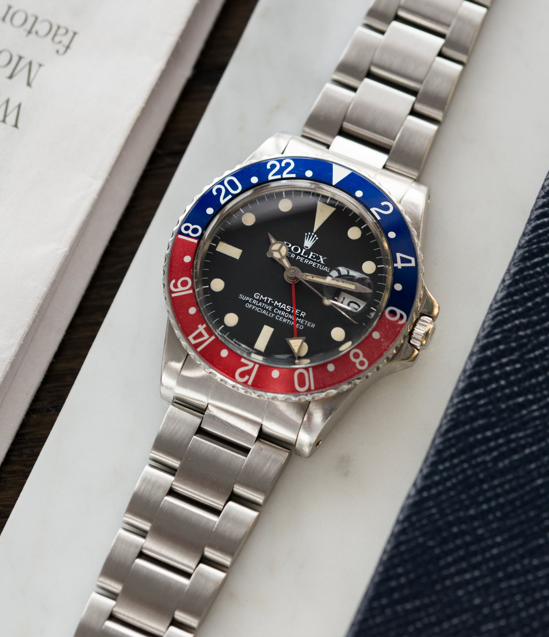 selling Rolex 16750 GMT-Master steel sport traveller watch for sale online at A Collected Man London vintage watch specialist