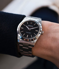vintage wristwatch Rolex Milgauss 1019 steel antimagnetic tool watch for sale online at A Collected Man London UK specialist rare vintage Rolex watches