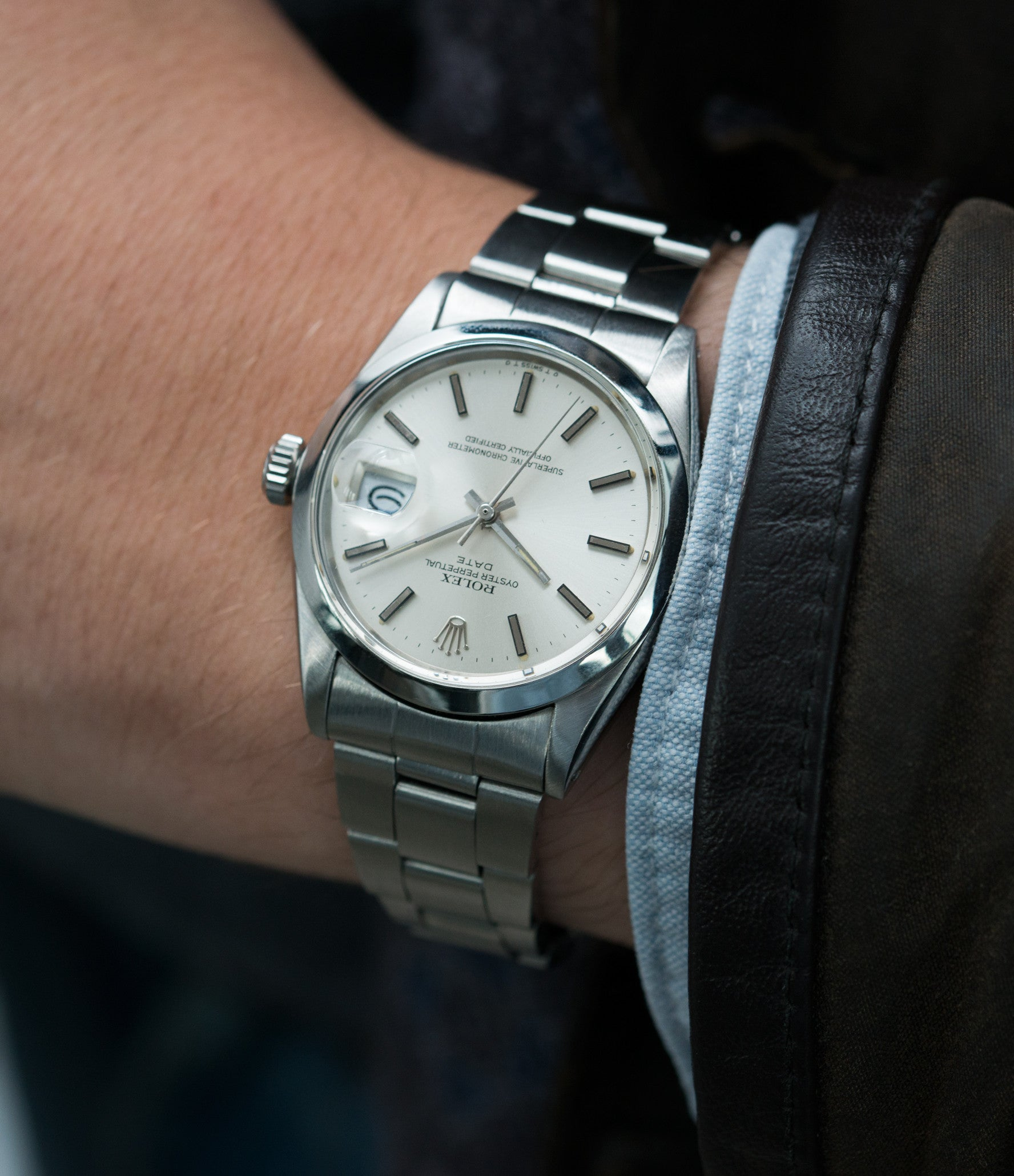 luxury vintage Rolex Oyster Date 1500 steel vintage watch full set for sale  online at A 986e1373d4dc