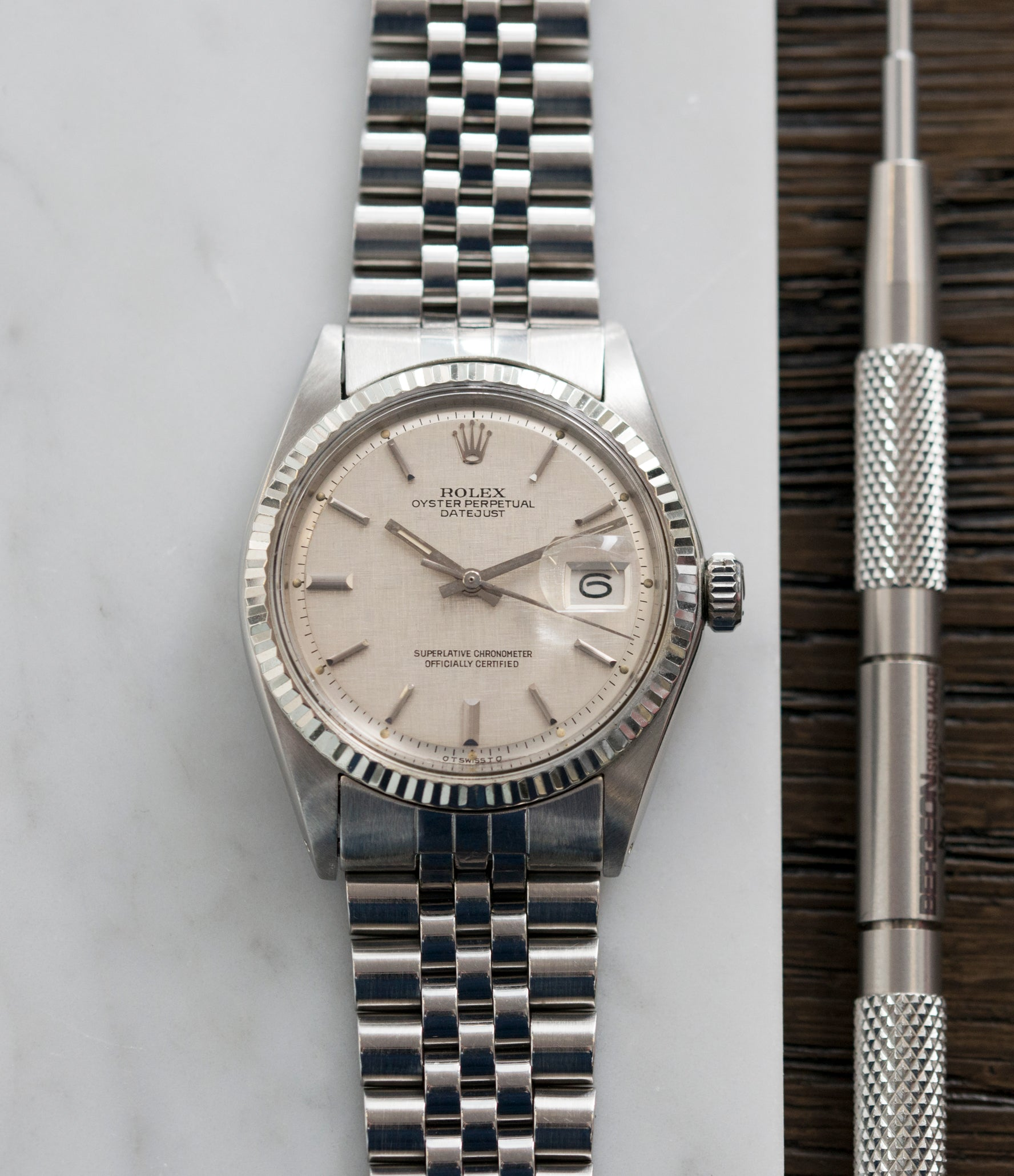Rolex Oyster Perpetual Datejust 1601 | Sigma Linen | steel