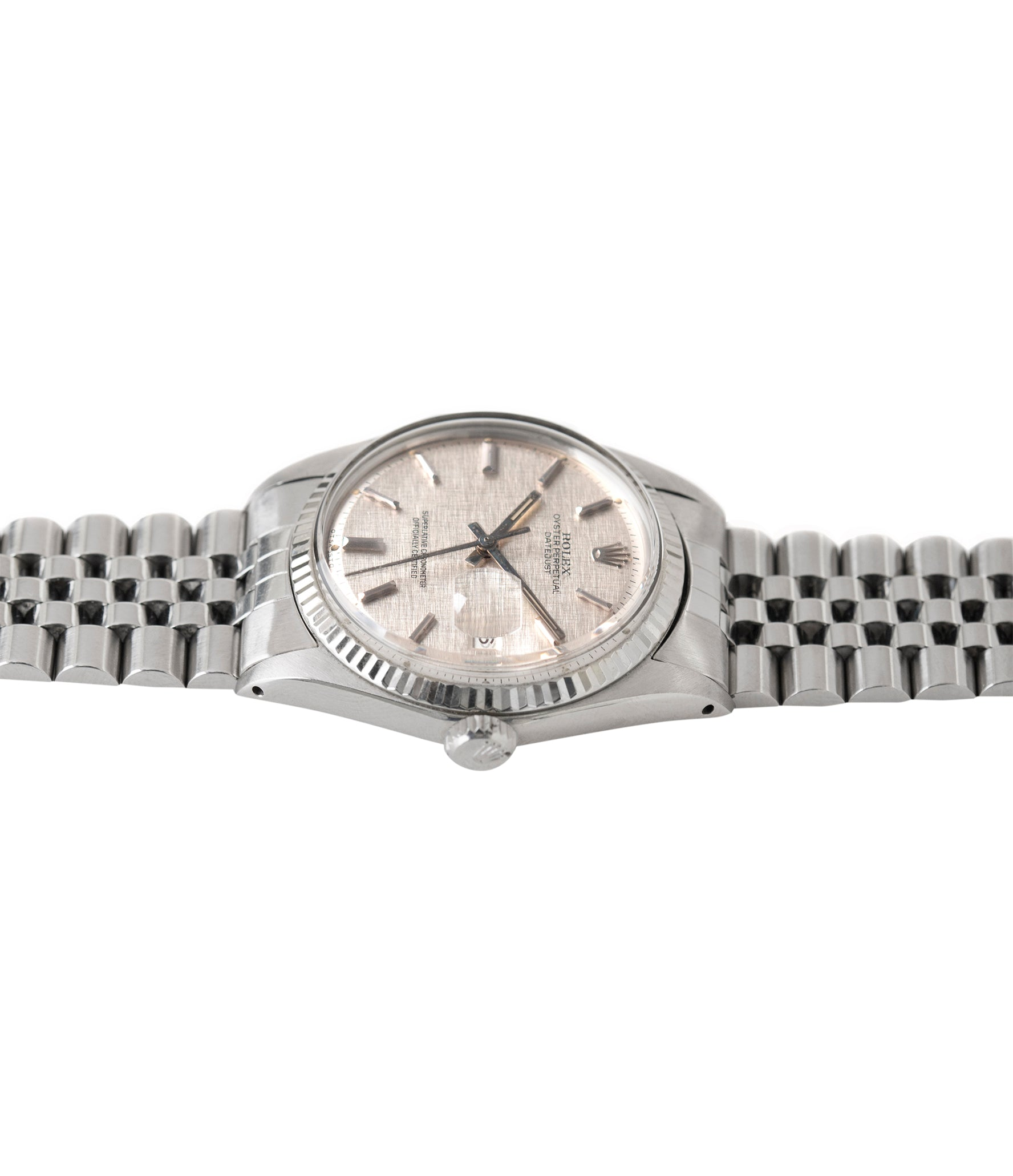 vintage Datejust 1601  Rolex linen dial Oyster Perpetual vintage automatic steel sport dress watch for sale online at A Collected Man London UK specialist rare vintage watches