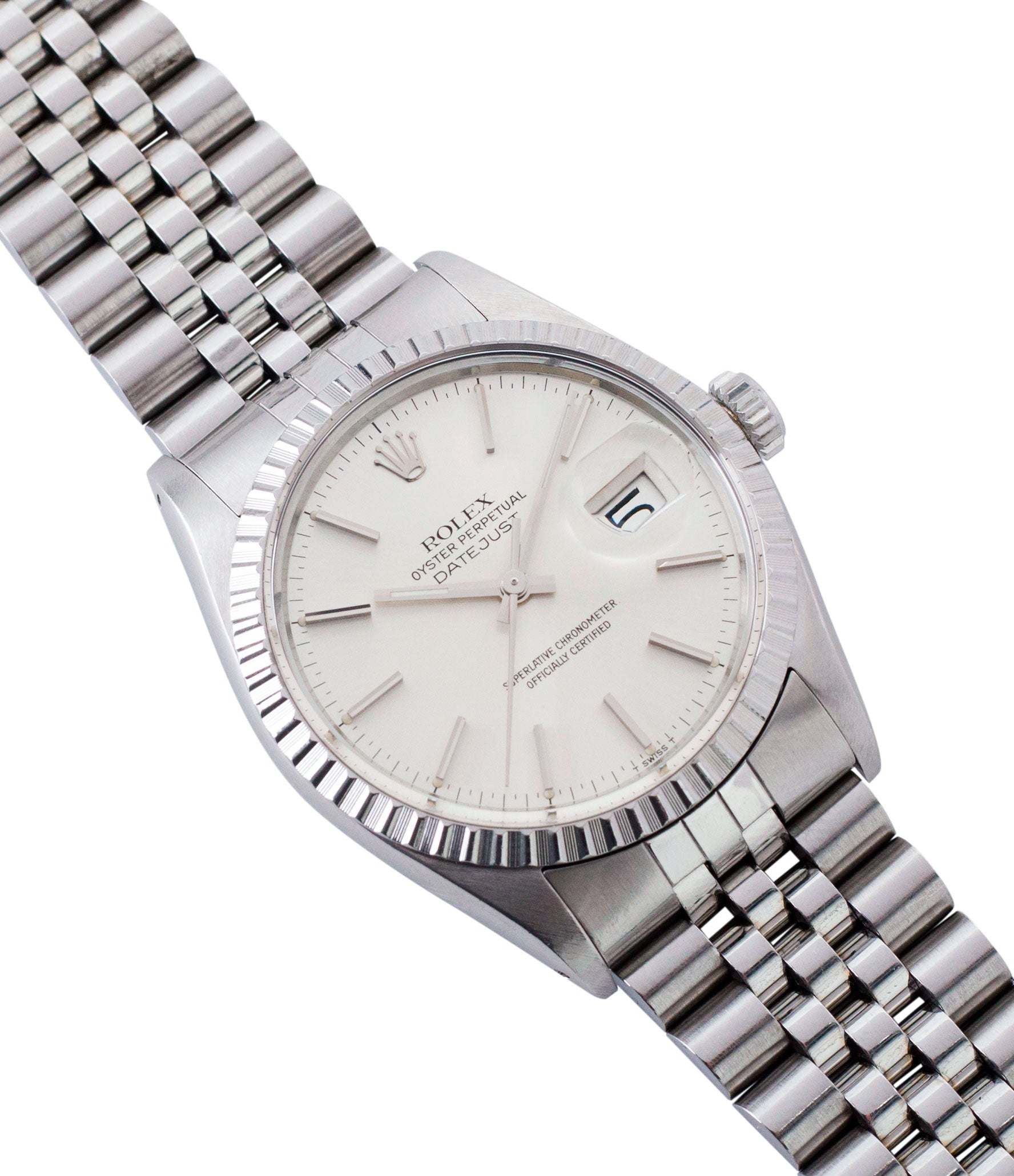 selling vintage full set Rolex Oyster Perpetual Datejust 16030 steel automatic silver dial watch Jubilee bracelet for sale online at A Collected Man London UK vintage watch specialist