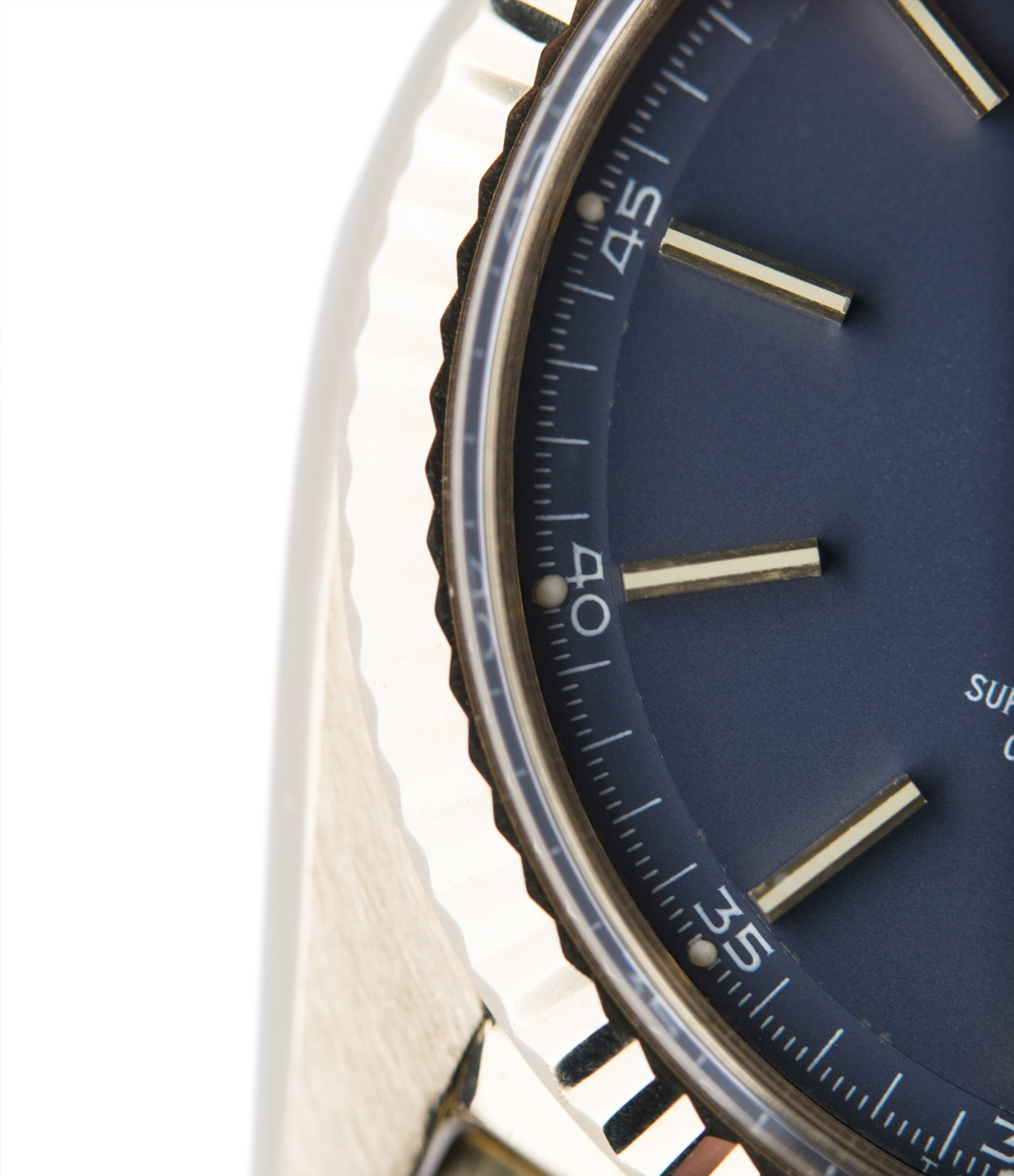 gold Rolex Day-Date 1803 Oyster Perpetual Cal. 1556 blue dial watch for sale online at A Collected Man London UK specialist of rare watches