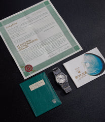 full set vintage Rolex Oyster Perpetual 1530 steel sport watch with papers for sale online at A Collected Man London UK specialist of rare watches