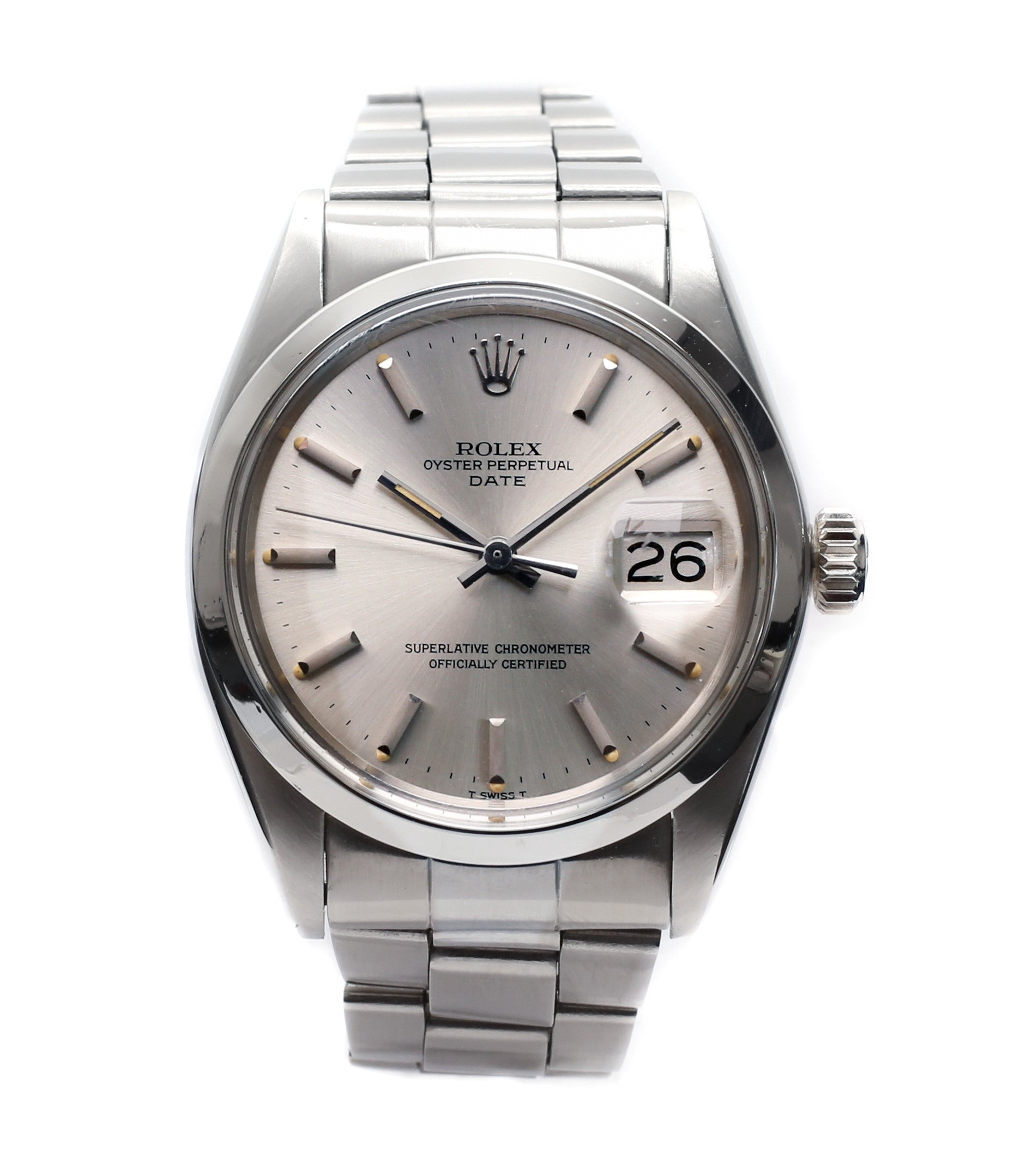 buy vintage Rolex 1500 Oyster Perpetual Date steel sport watch online for  sale at A Collected 22e5666903b3