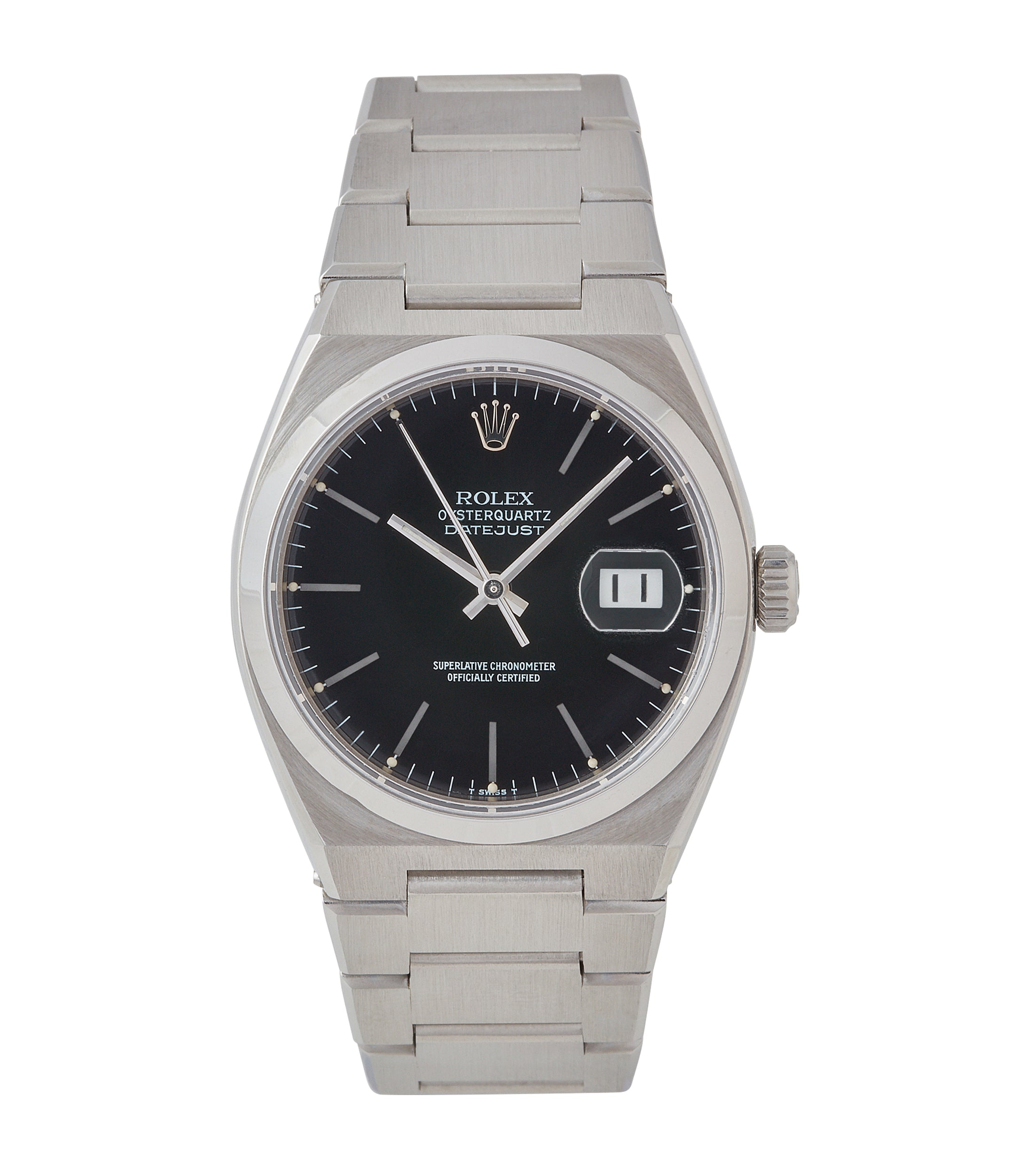 buy vintage Rolex Oysterquartz Datejust ref. 17000 steel sport watch full set for sale online at A Collected Man London specialist of rare watches