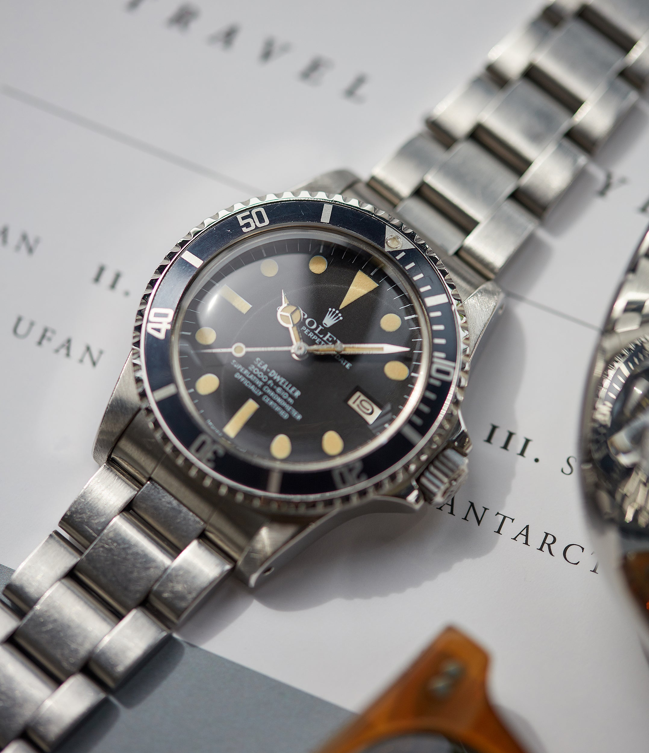 selling Rolex Sea-Dweller Great White 1665 A Collected Man steel