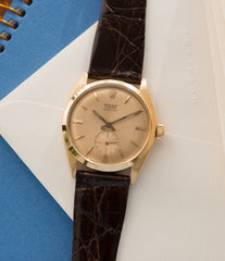 6512 Rolex Veriflat gold rare dress watch for sale online at A Collected Man London vintage watch specialist UK