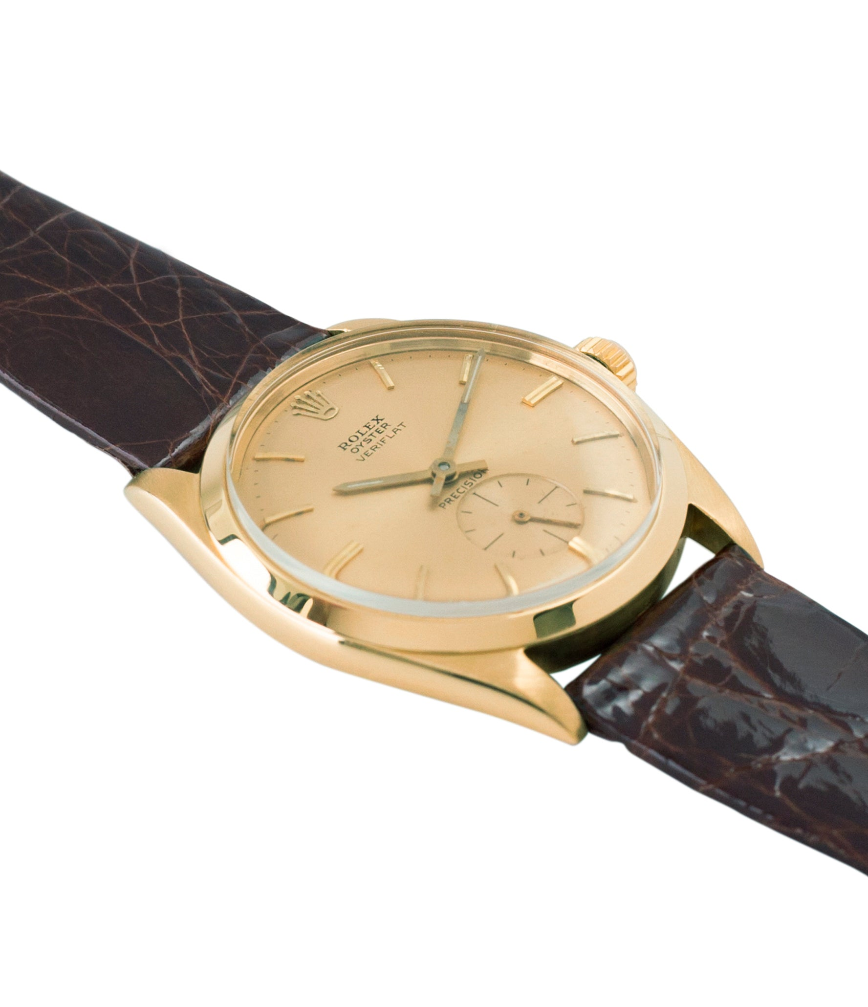 buy Rolex Veriflat 6512 yellow gold rare dress watch for sale online at A Collected Man London vintage watch specialist UK