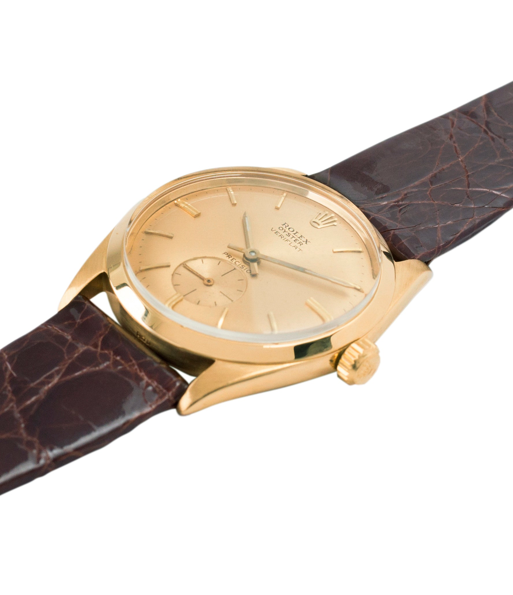 selling Rolex Veriflat 6512 yellow gold rare dress watch for sale online at A Collected Man London vintage watch specialist UK