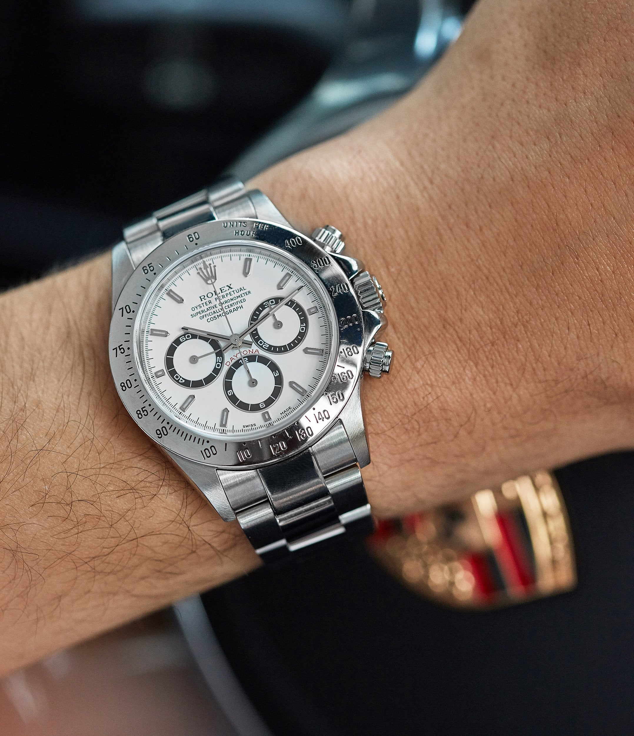 men's luxury sports watch Rolex Daytona 16520 Zenith steel vintage chronograph sports watch full set for sale online A Collected Man London specialist rare watches