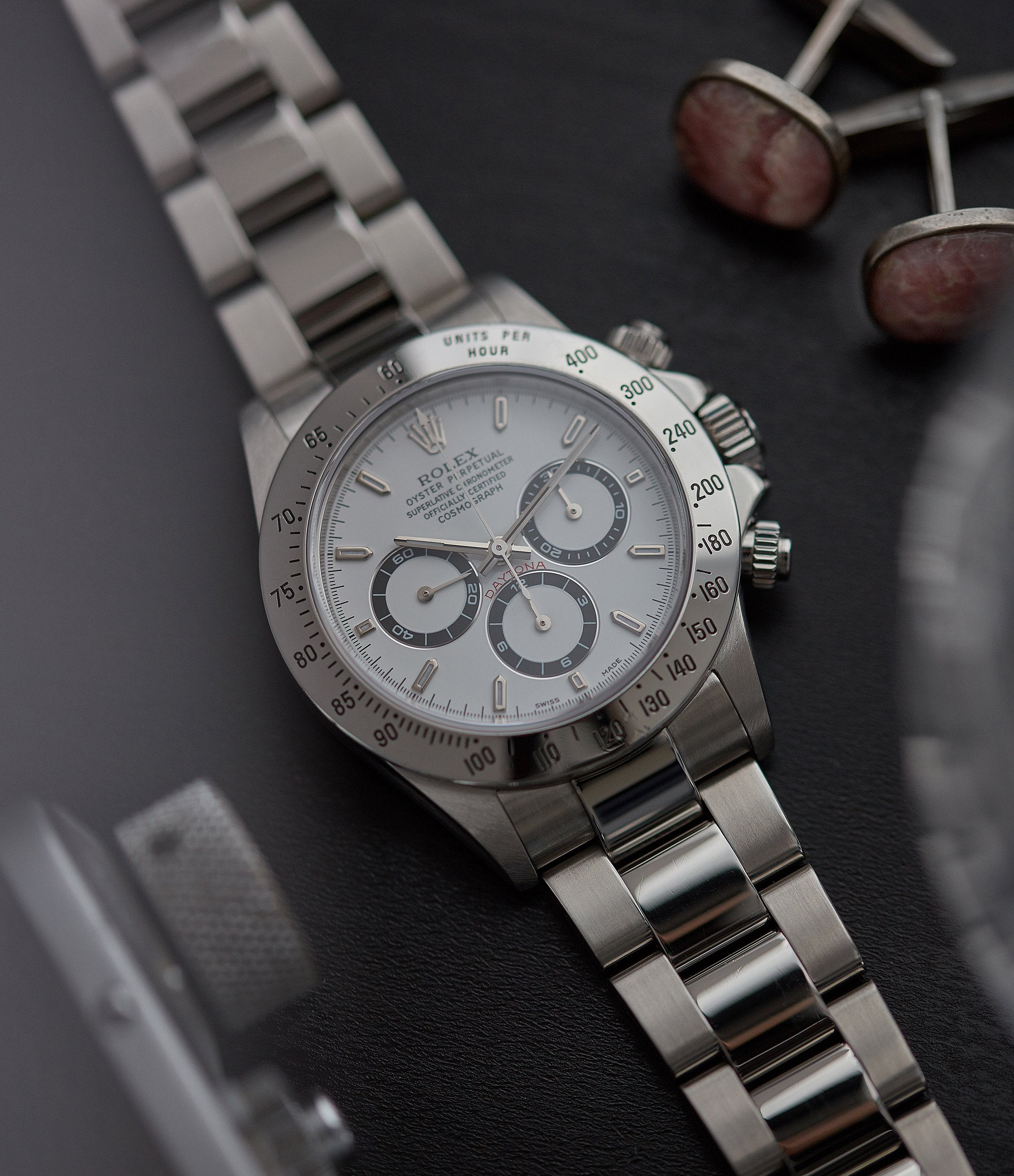 Ref. 16520 Rolex Daytona Zenith movement steel vintage chronograph sports watch full set for sale online A Collected Man London specialist rare watches