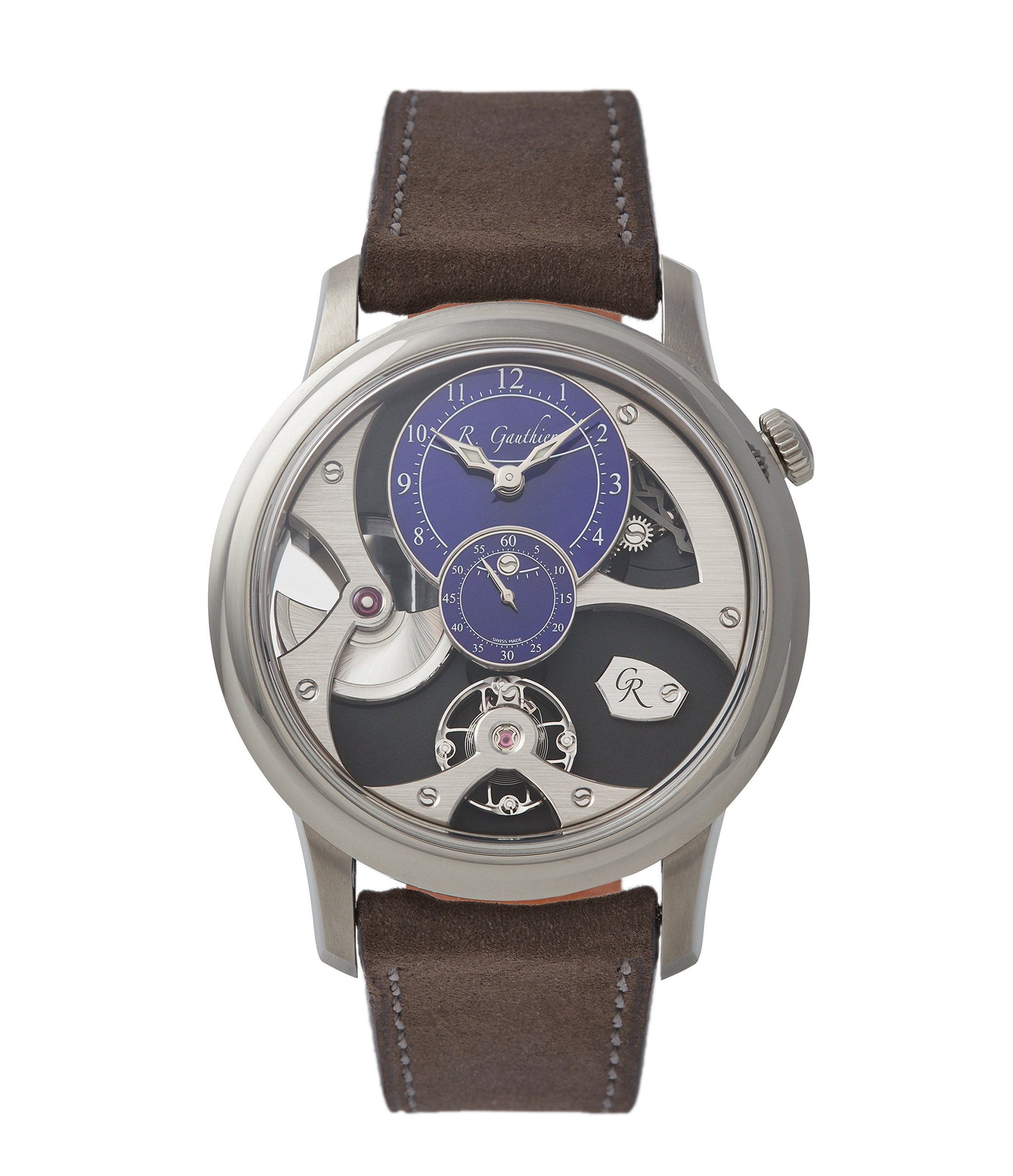 pre-owned Romain Gauthier Insight Micro-rotor titanium blue enamel dial limited edition watch for sale online A Collected Man London