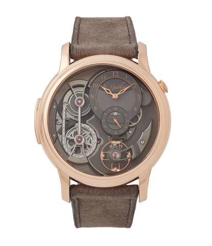 buy Romain Gauthier Logical One red gold dress watch by independent watchmaker for sale online at A Collected Man London UK specialist of rare watches