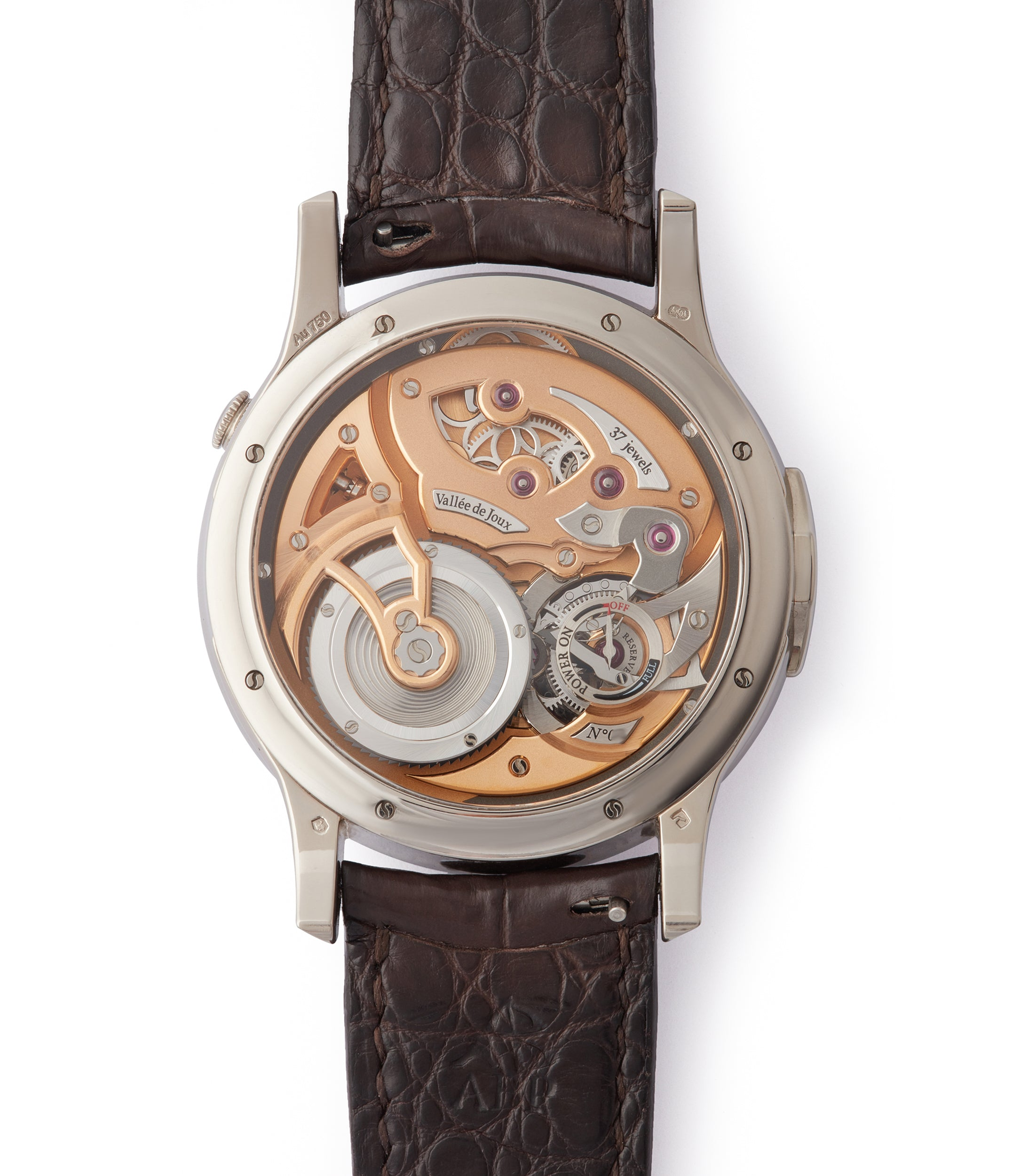 best men's complication Romain Gauthier Logical One white gold skeletonised watch for sale online at A Collected Man London UK specialist of rare watches