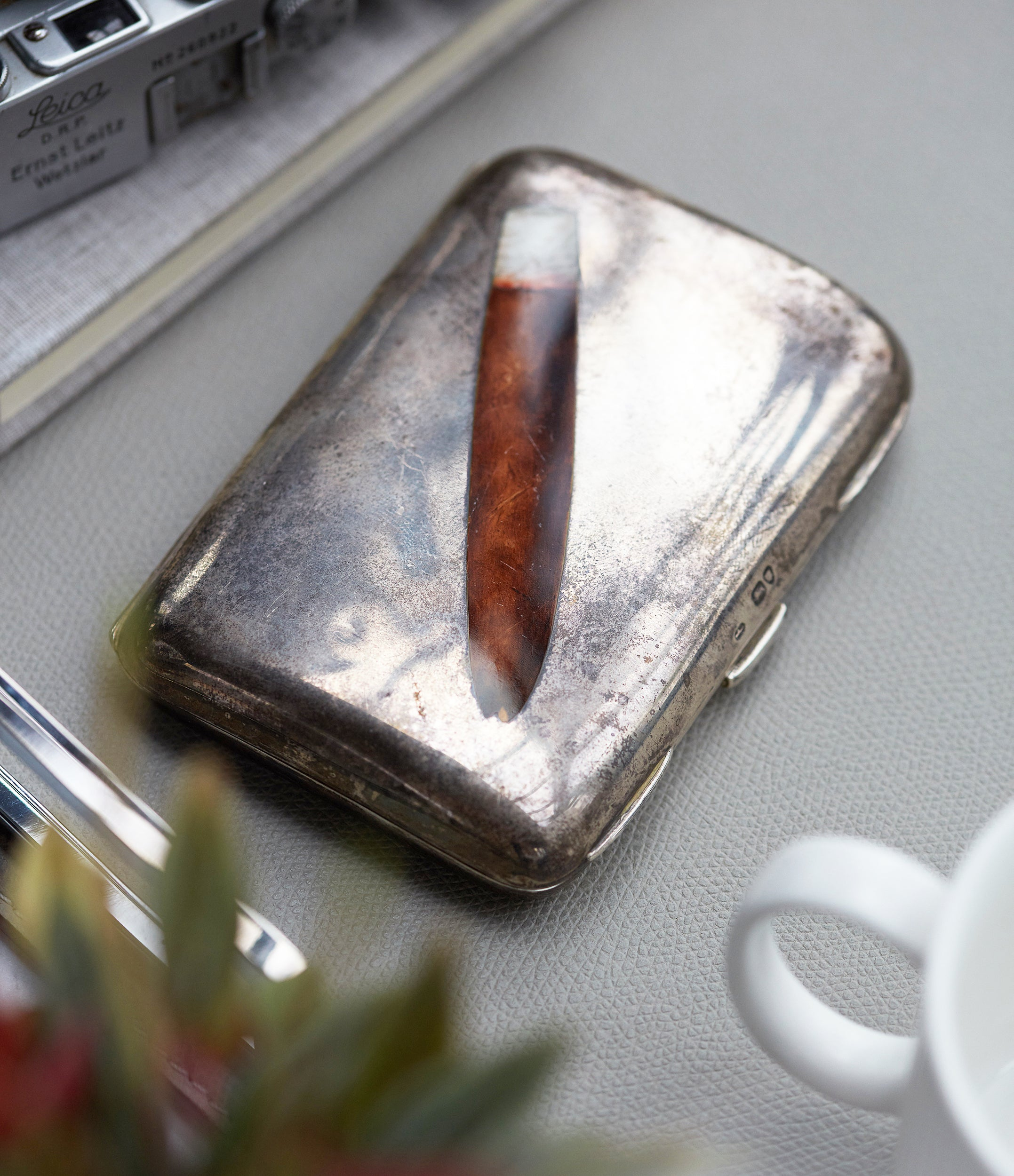 Victorian silver cigar case from Sir David Tang by George Hunter I of London men's rare object A Collected Man London UK specialist gentleman collectables