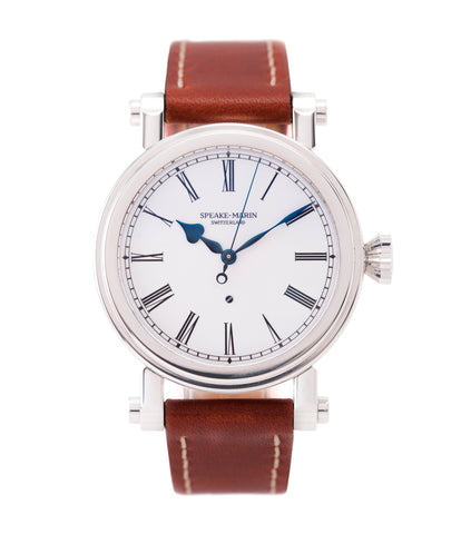 buy Speake-Marin Piccadilly Resilience SMST0007-069 enamel dial steel watch for sale online at A Collected Man London UK specialist of rare watches