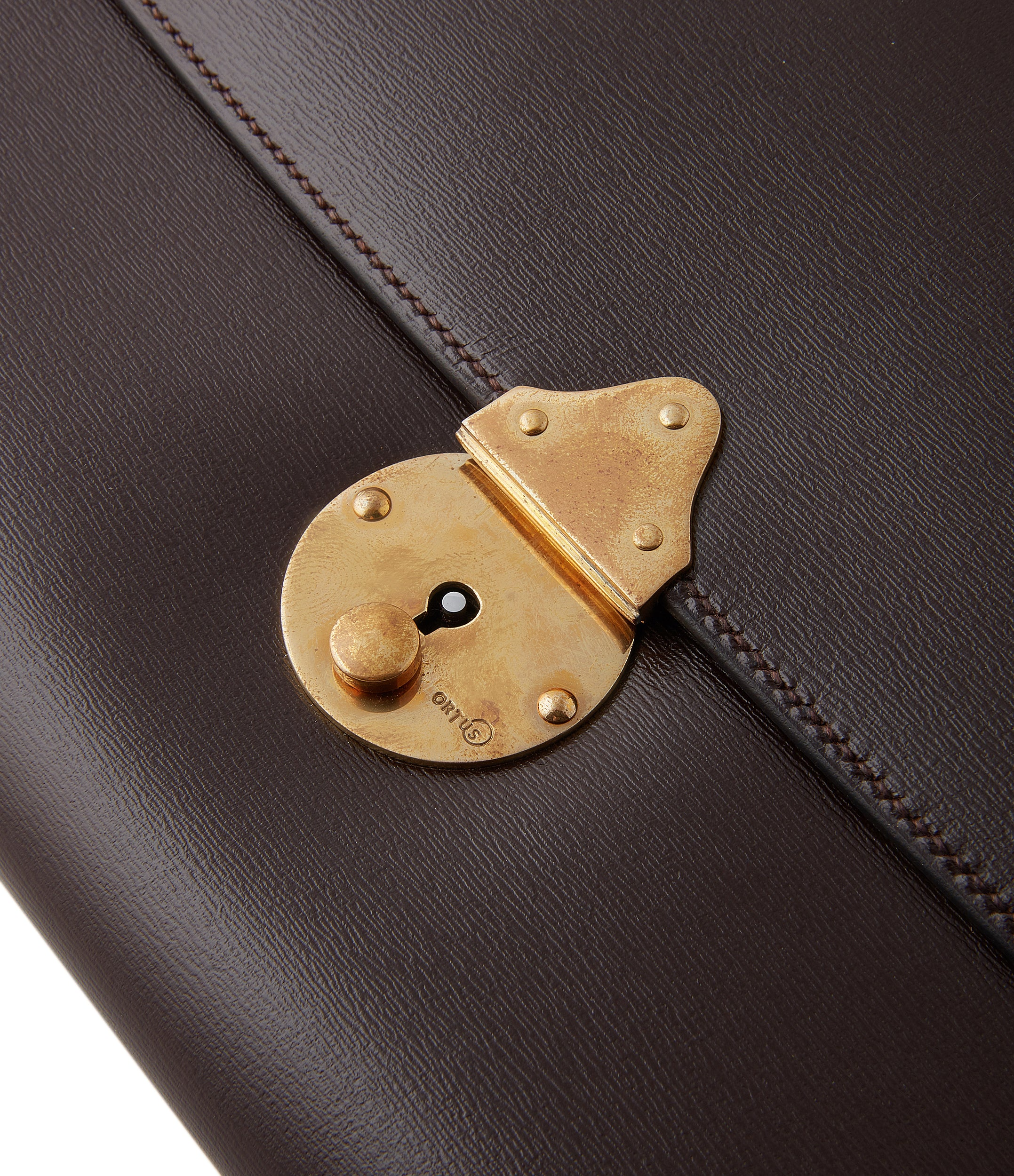rare The Armoury watch satchel travel case brown leather by Ortus Japanese-made case A Collected Man London