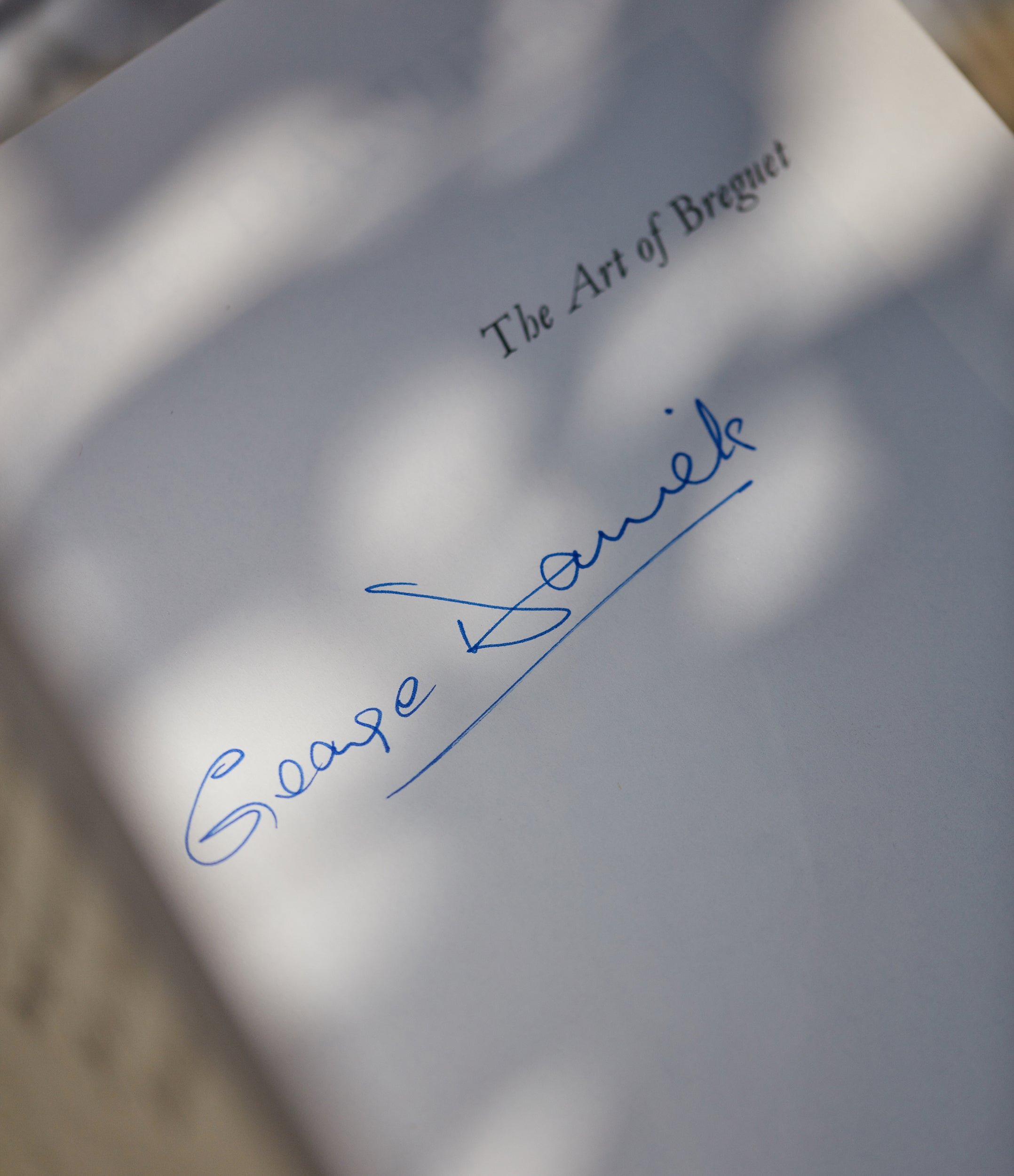 signed rare edition The Art of Breguet book by Dr. George Daniels Specialy-bound First Edition book signed and gifted by the author at A Collected Man London